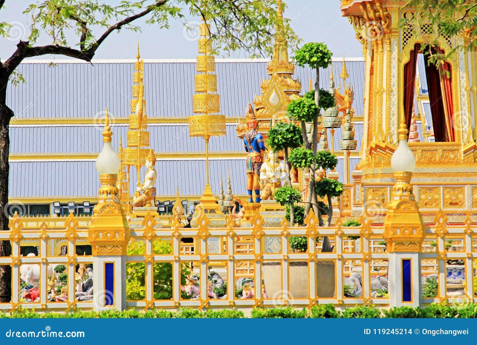 O crematório do rei Bhumibol, Banguecoque, Tailândia