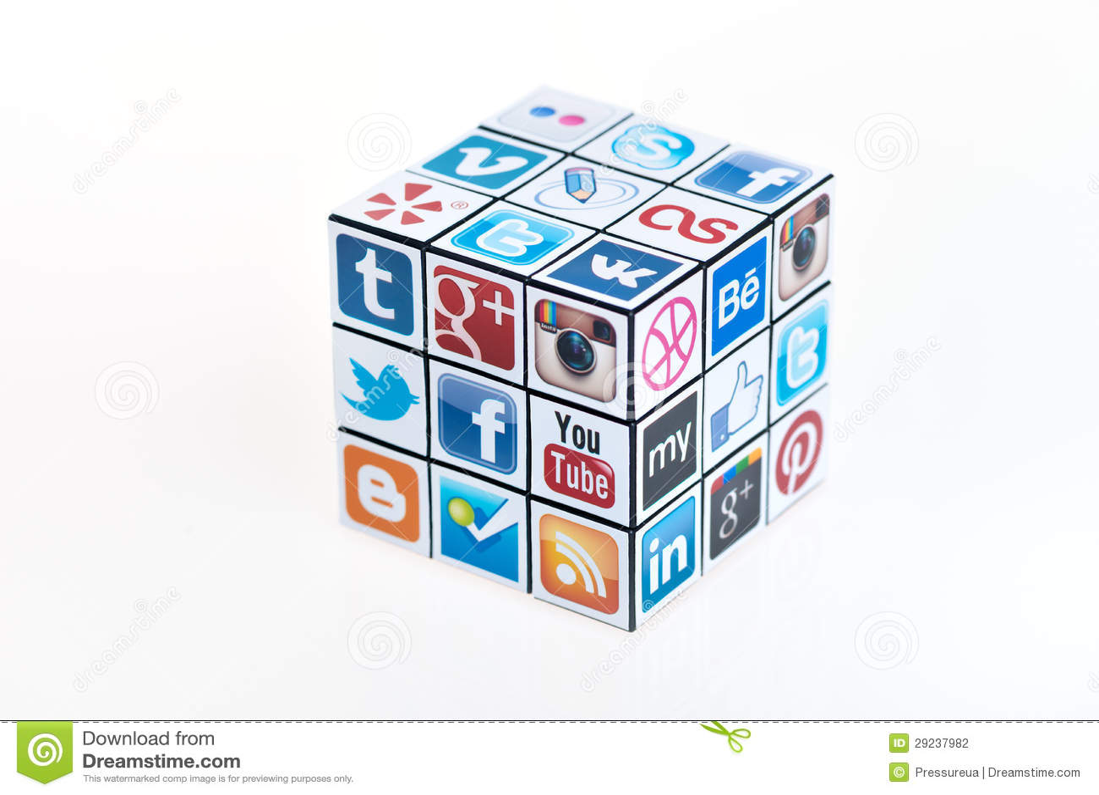 O cubo de Rubick social dos media