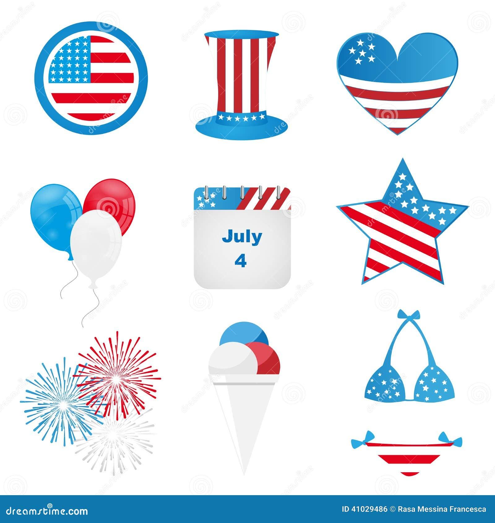 4o de ícones de julho