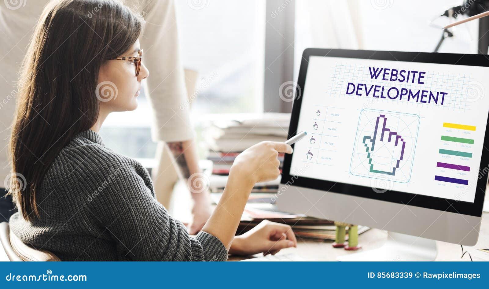 O desenvolvimento do Web site liga Seo Webinar Cyberspace Concept