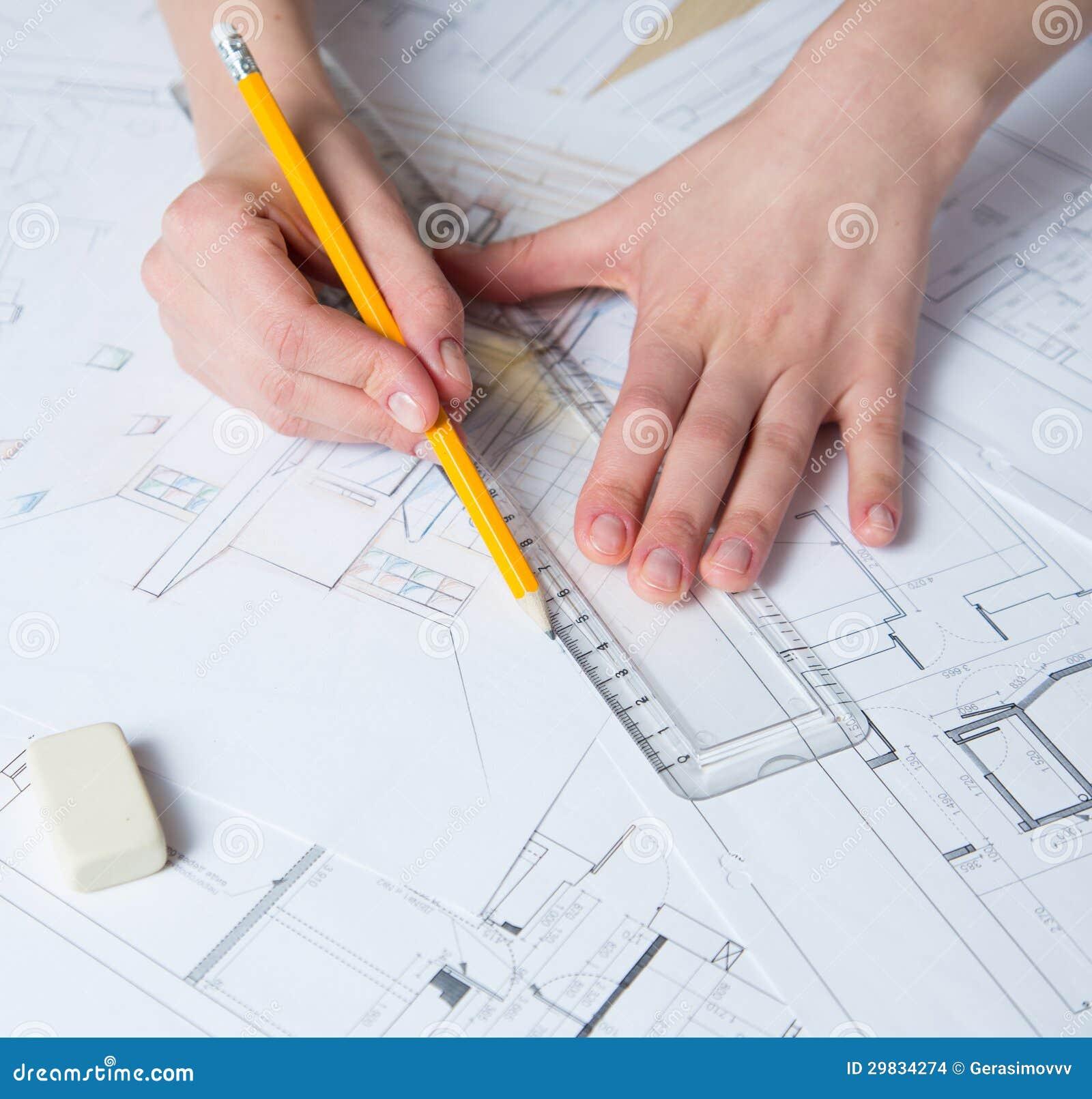Detalhes do desenho da mão do interior