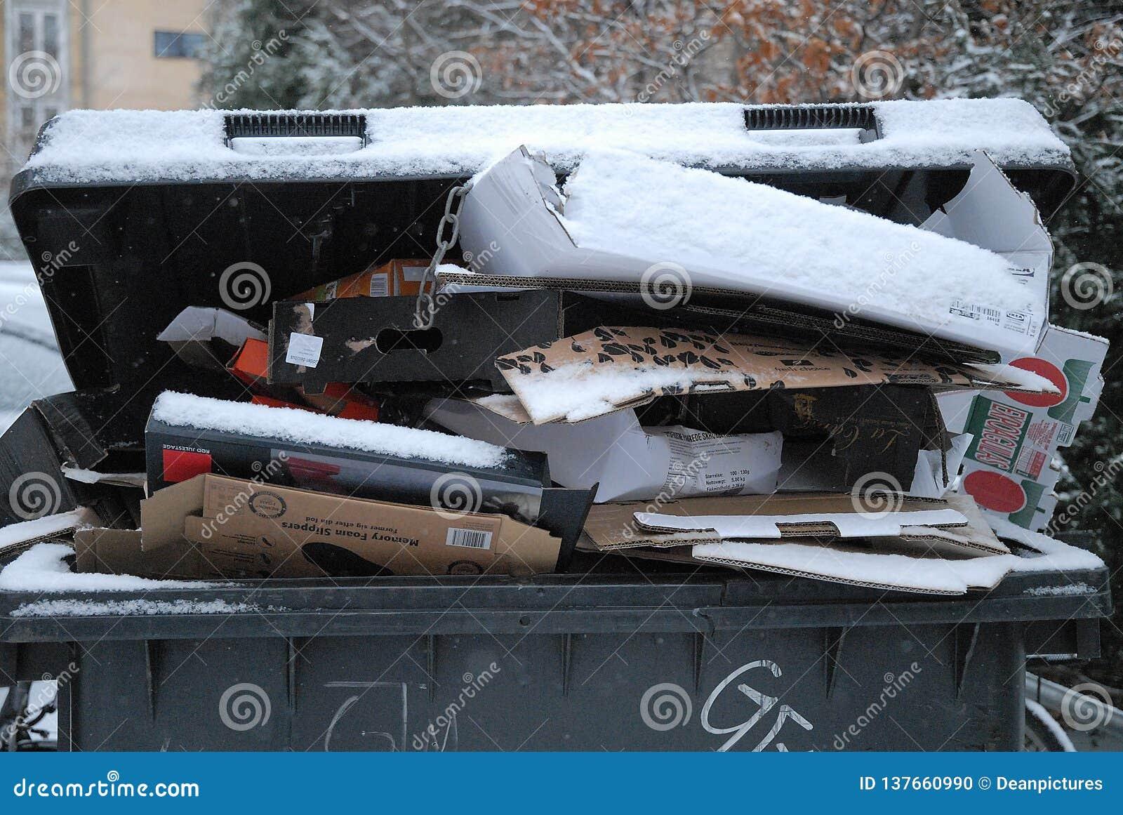 O desperdício do PNF não sido neve devida removida do cai tempo