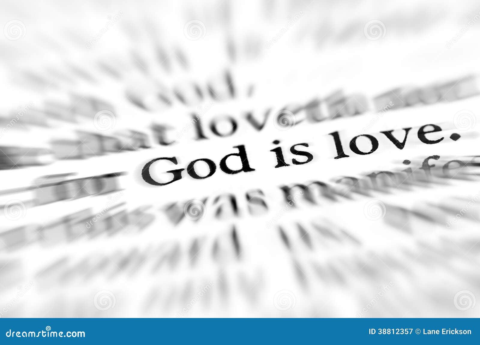 O deus do zumbido é escritura do amor na Bíblia