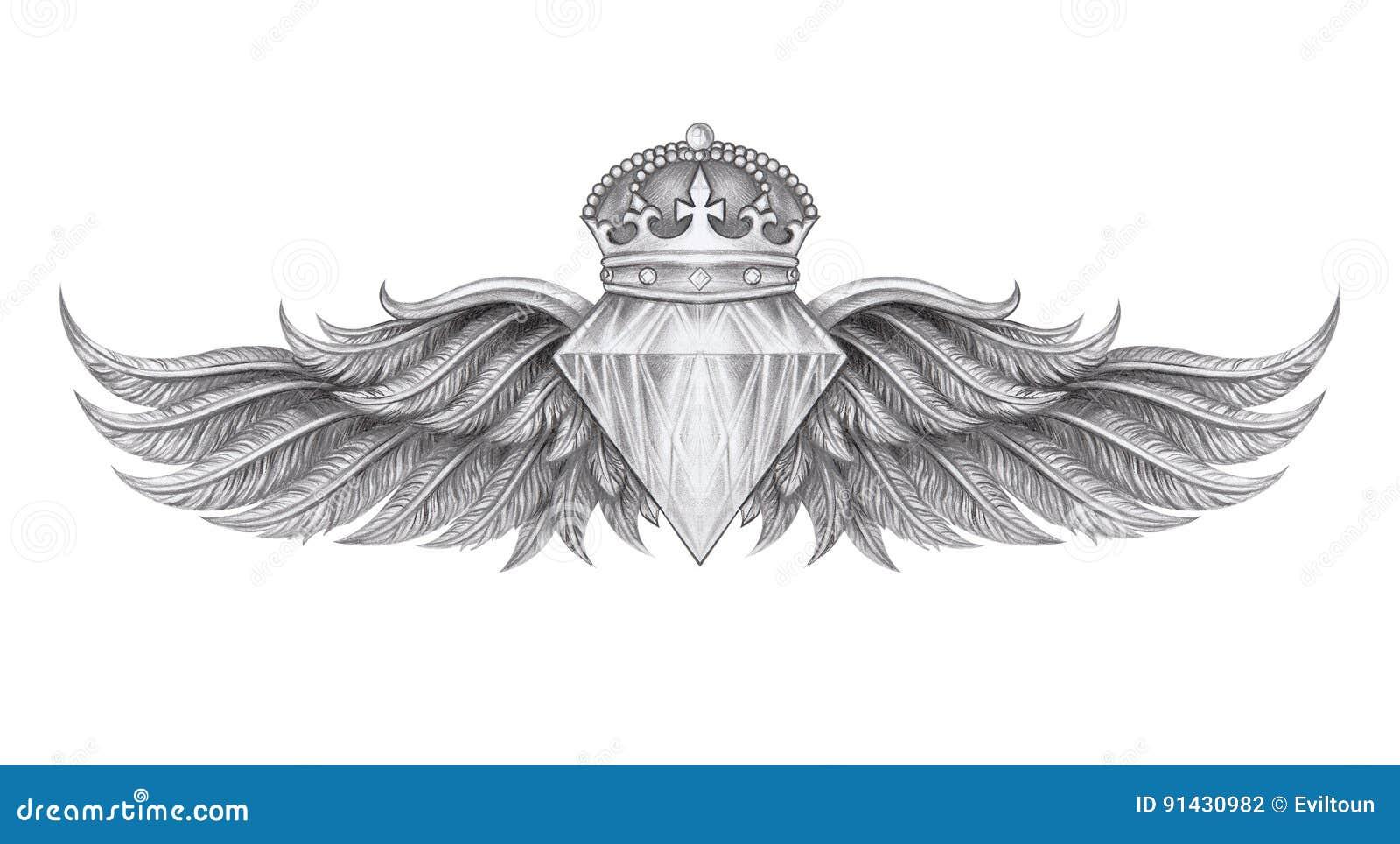 O Diamante Voa A Tatuagem Ilustracao Stock Ilustracao De Creativo