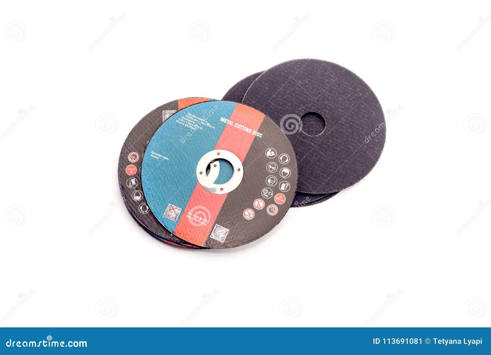 O disco do corte do metal