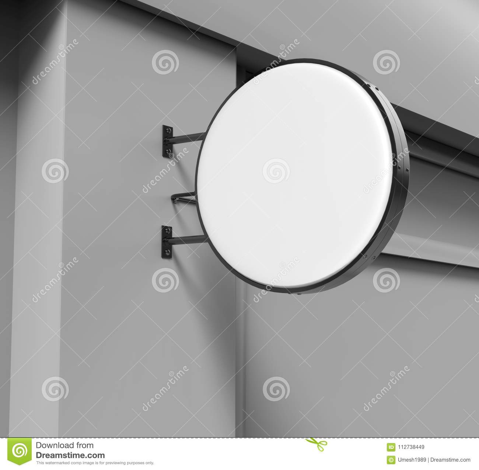 O dobro tomou partido placa circular para trás iluminada do signage, placa de propaganda conduzida do fulgor, sinal da empresa do