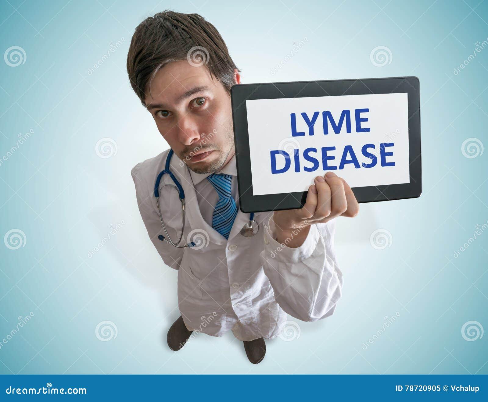 O doutor está advertindo contra a doença de Lyme causada por tiquetaques