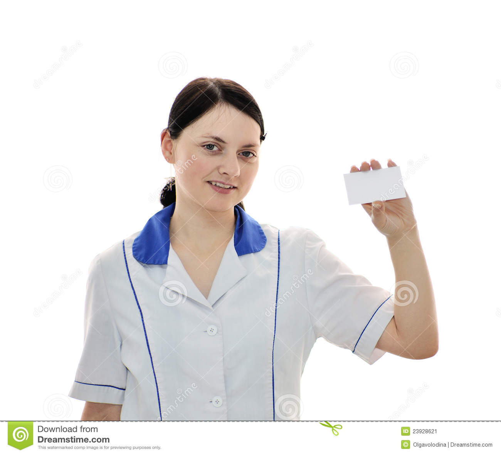O doutor mantem o cartão em branco em sua mão