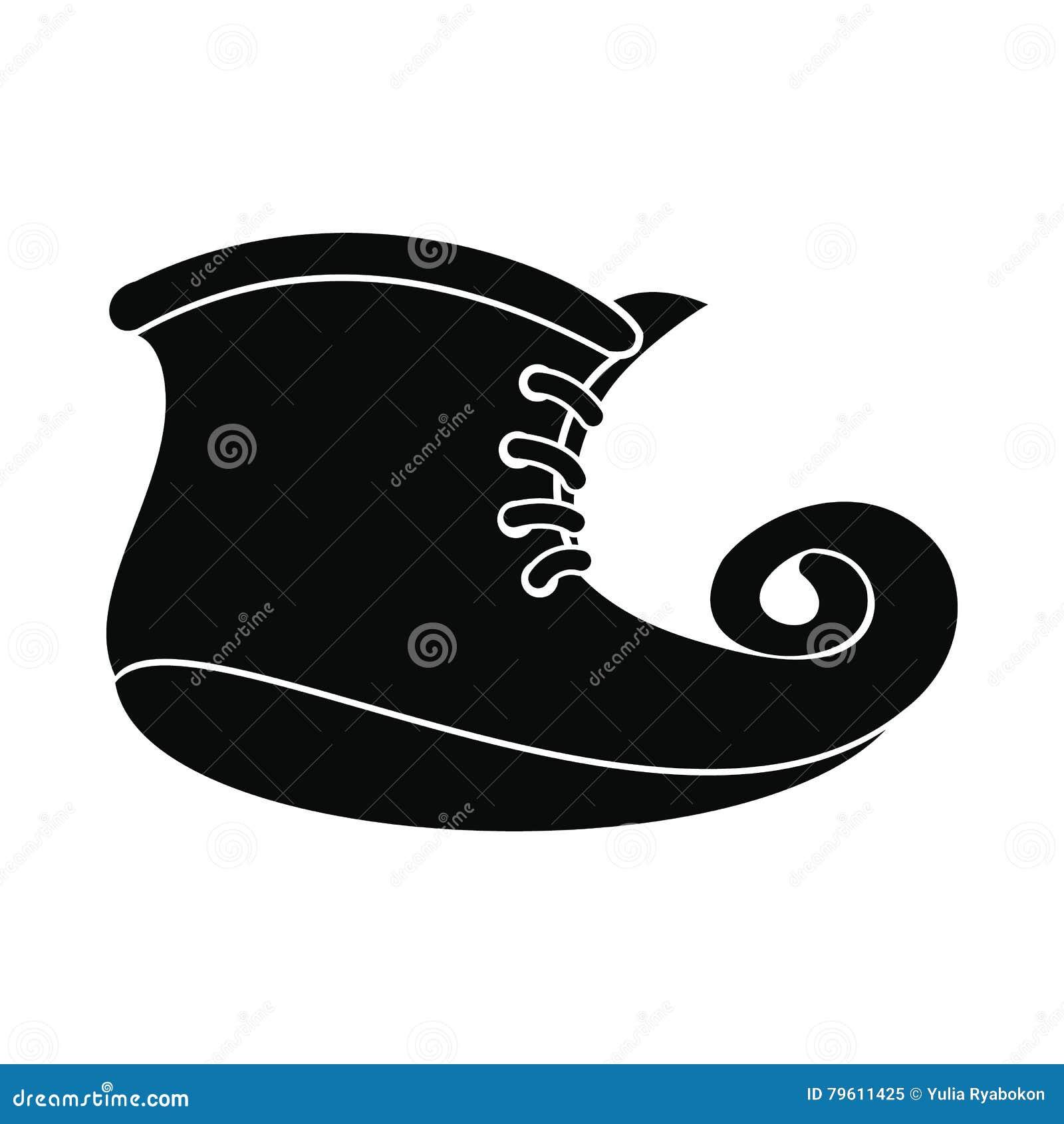 O duende carreg o ícone simples preto