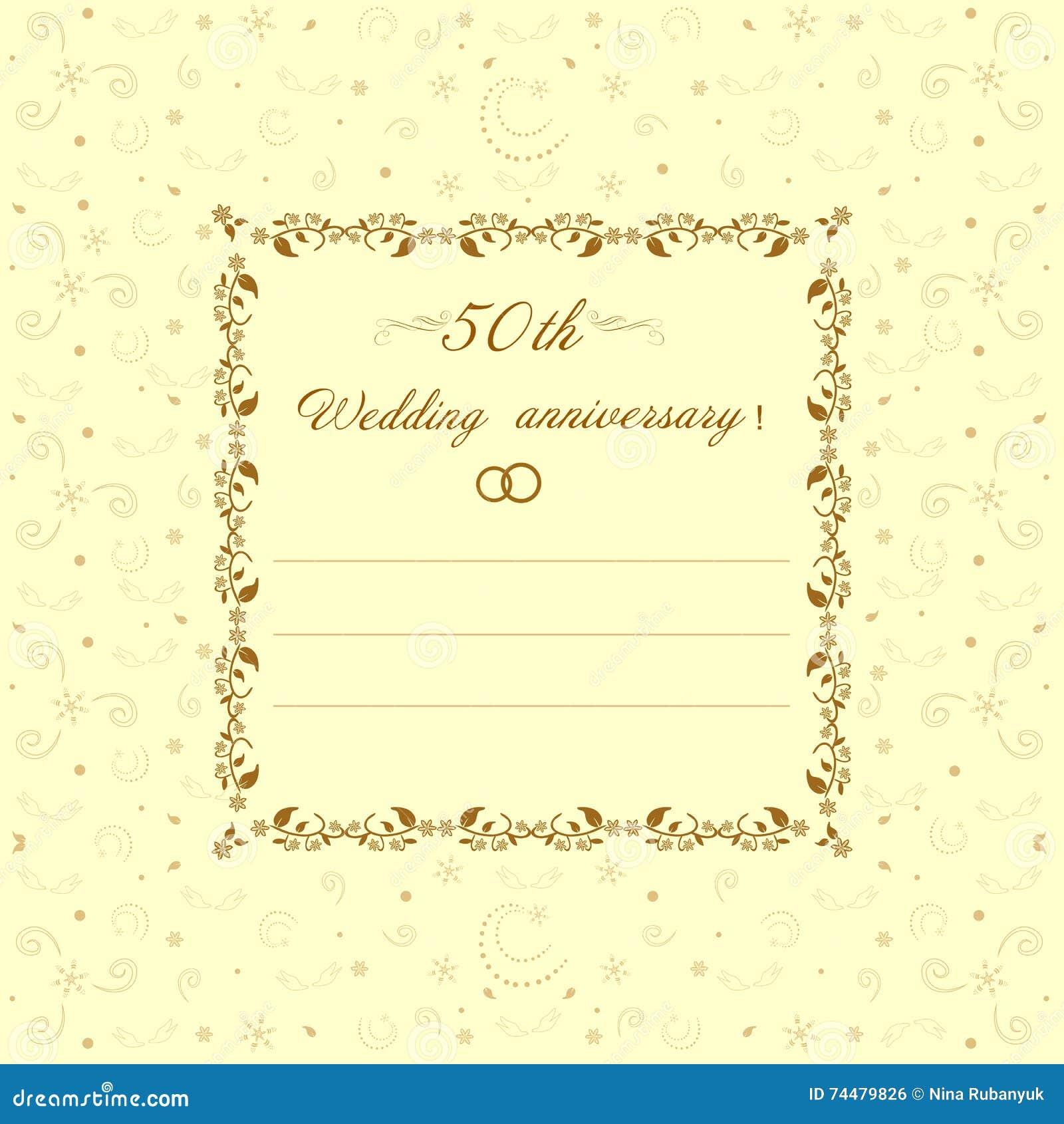 50 O Ejemplo De La Invitación Del Aniversario De Boda Stock