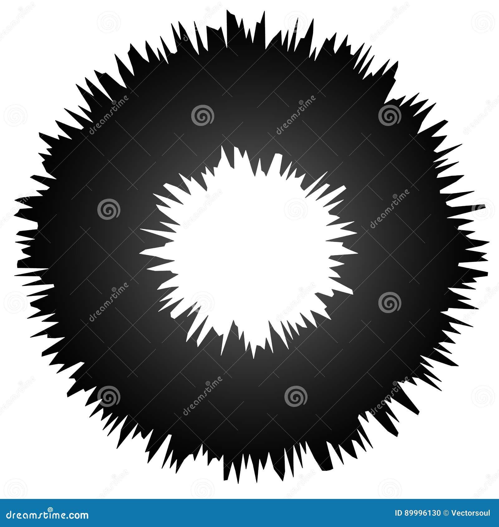 O elemento abstrato sujo áspero do círculo, circular distorceu o anel, d