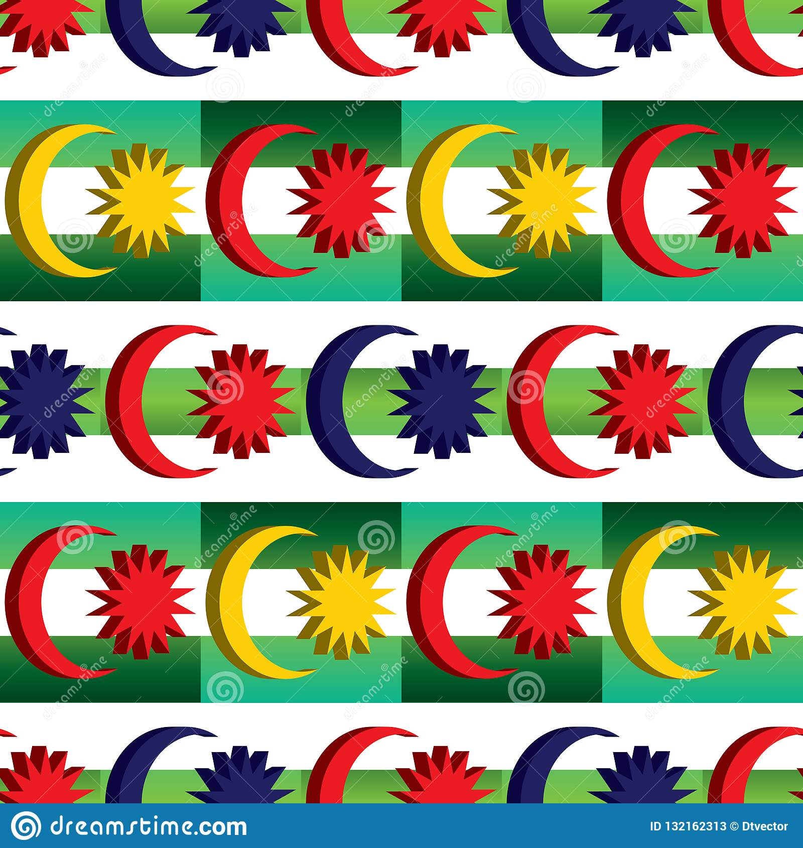 O elemento da bandeira de 3d Malásia combina o teste padrão sem emenda da simetria diagonal verde malaio da cor