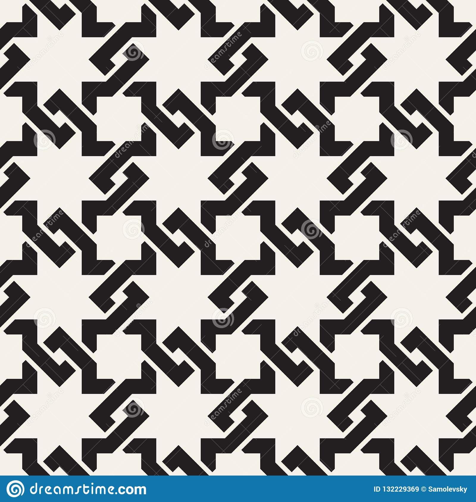 O entrelaçamento sem emenda do vetor alinha o teste padrão Textura abstrata à moda moderna Repetindo telhas geométricas