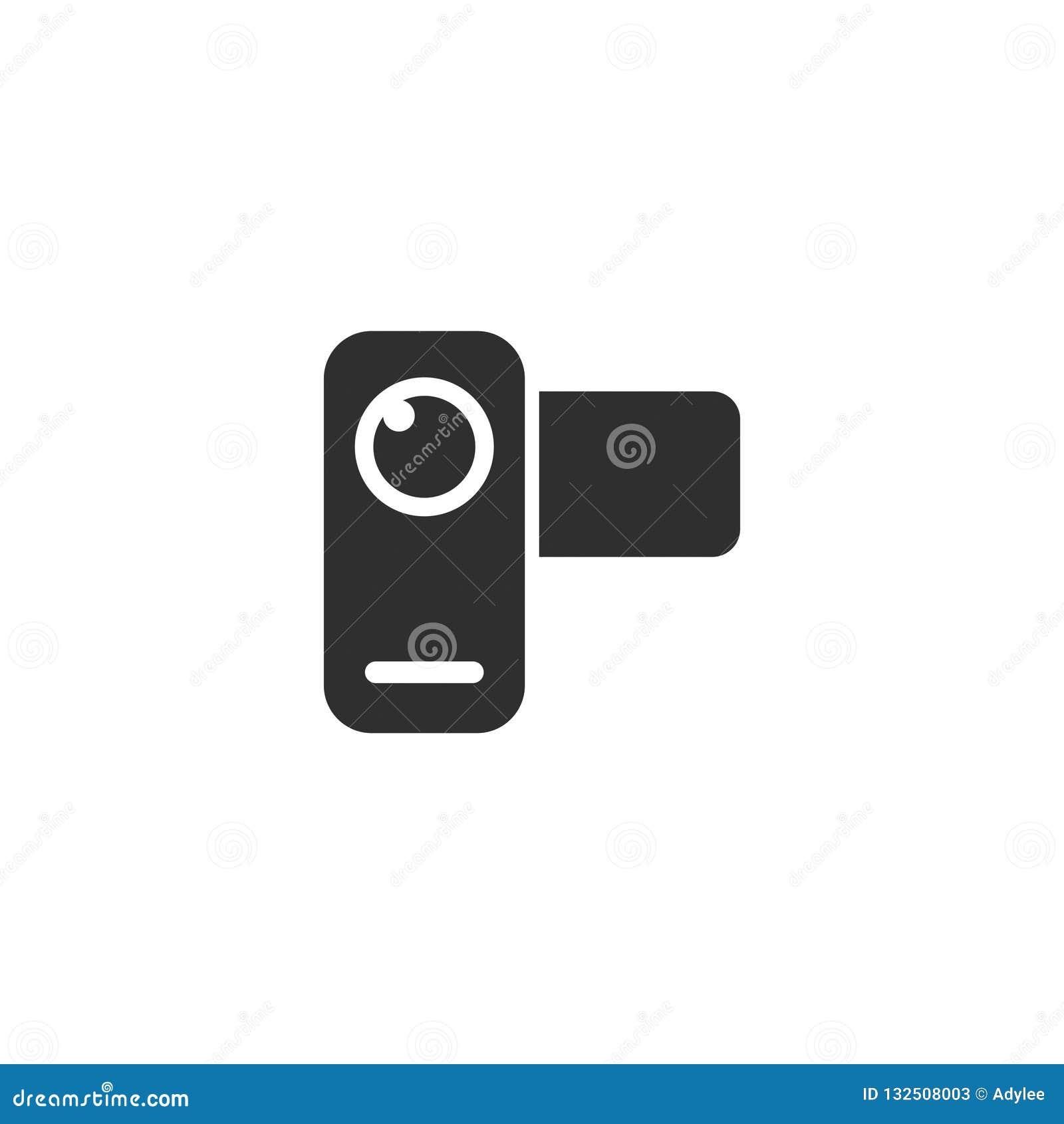 O esboço do ícone da câmera do filme de filme isolou 11