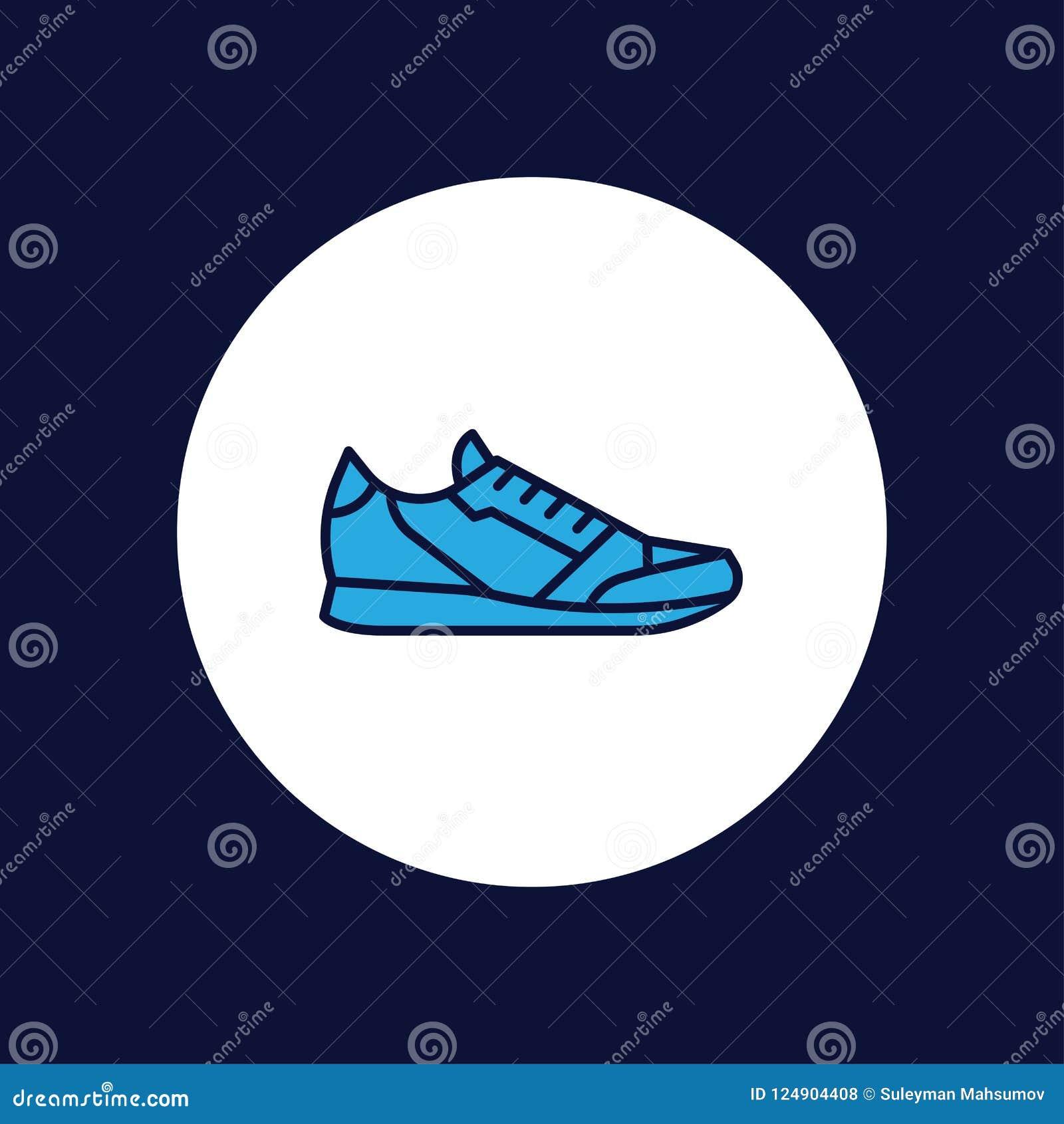 O esporte calça o símbolo do sinal do ícone do vetor