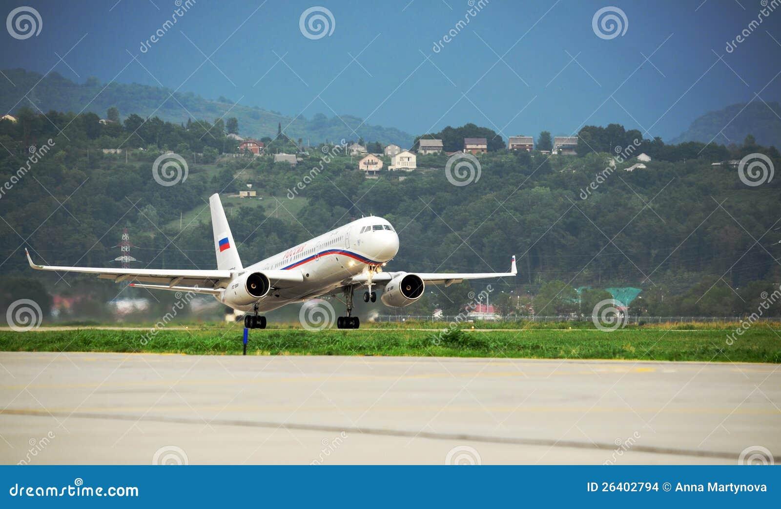 O esquadrão do governo do russo de TU-214SUS
