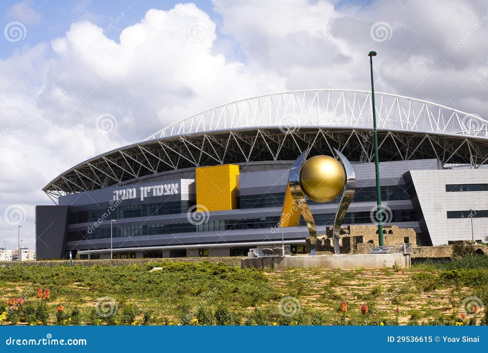 O estádio de futebol novo de Natanya