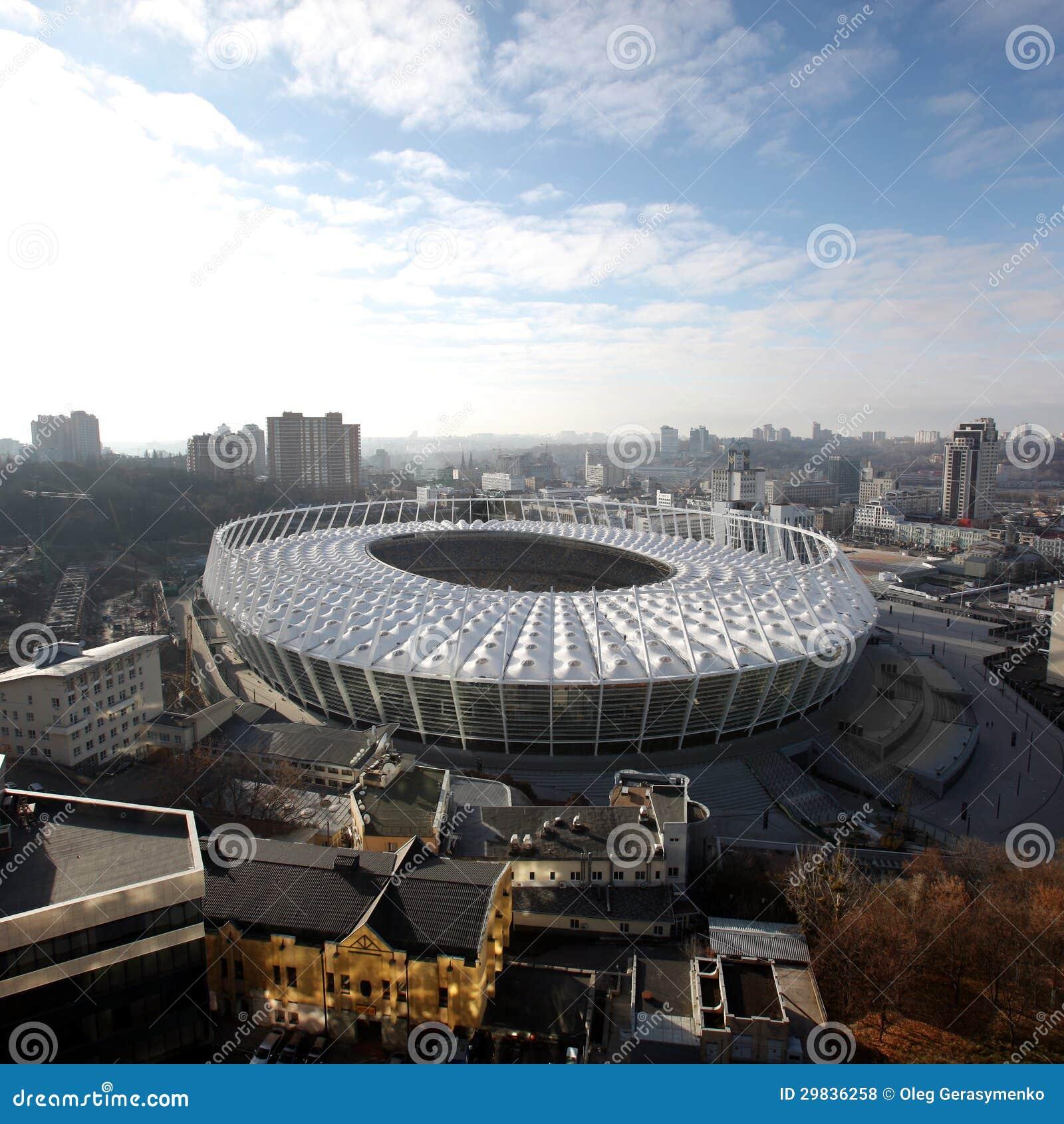 O Estádio Olímpico sob a construção