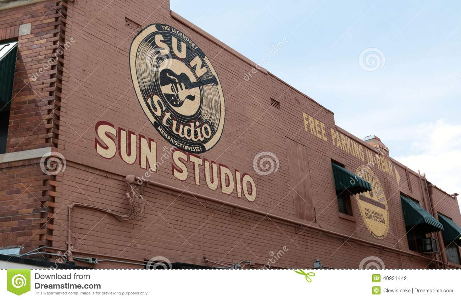 O estúdio mundialmente famoso e histórico de Sun, Memphis Tennessee