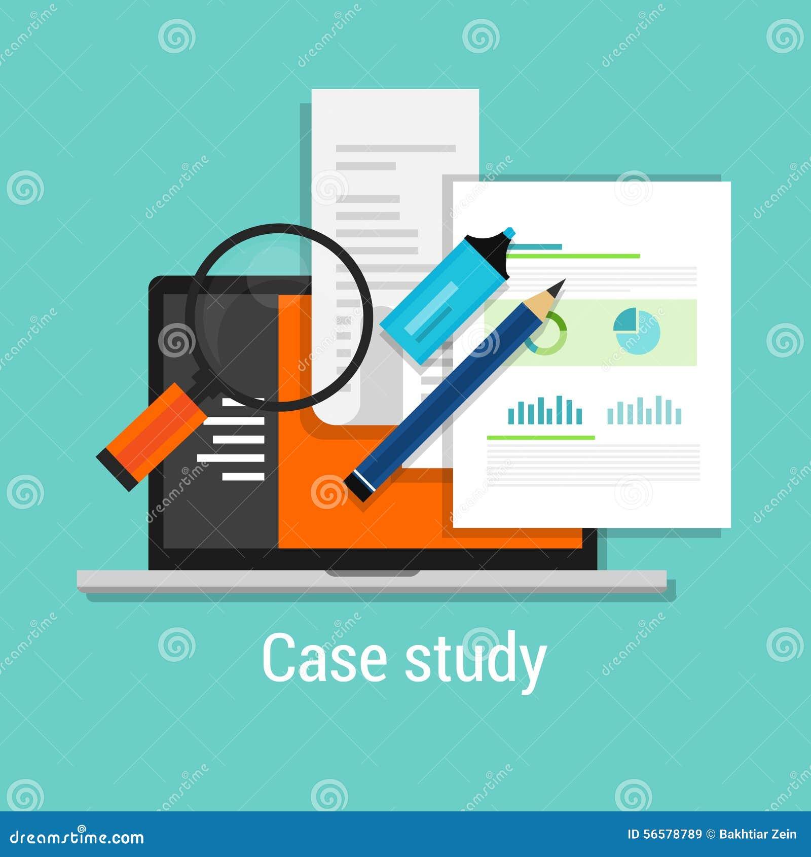 O estudo de caso estuda a lente de aumento lisa do portátil do ícone