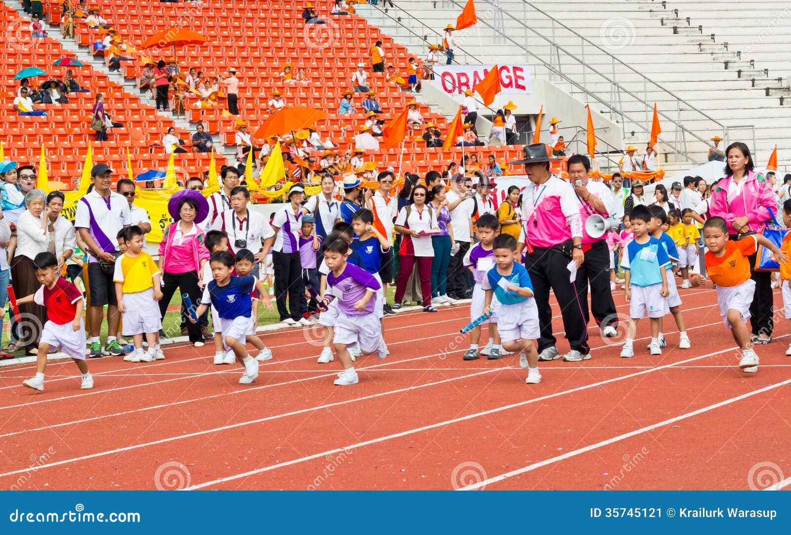O evento do dia do esporte das crianças