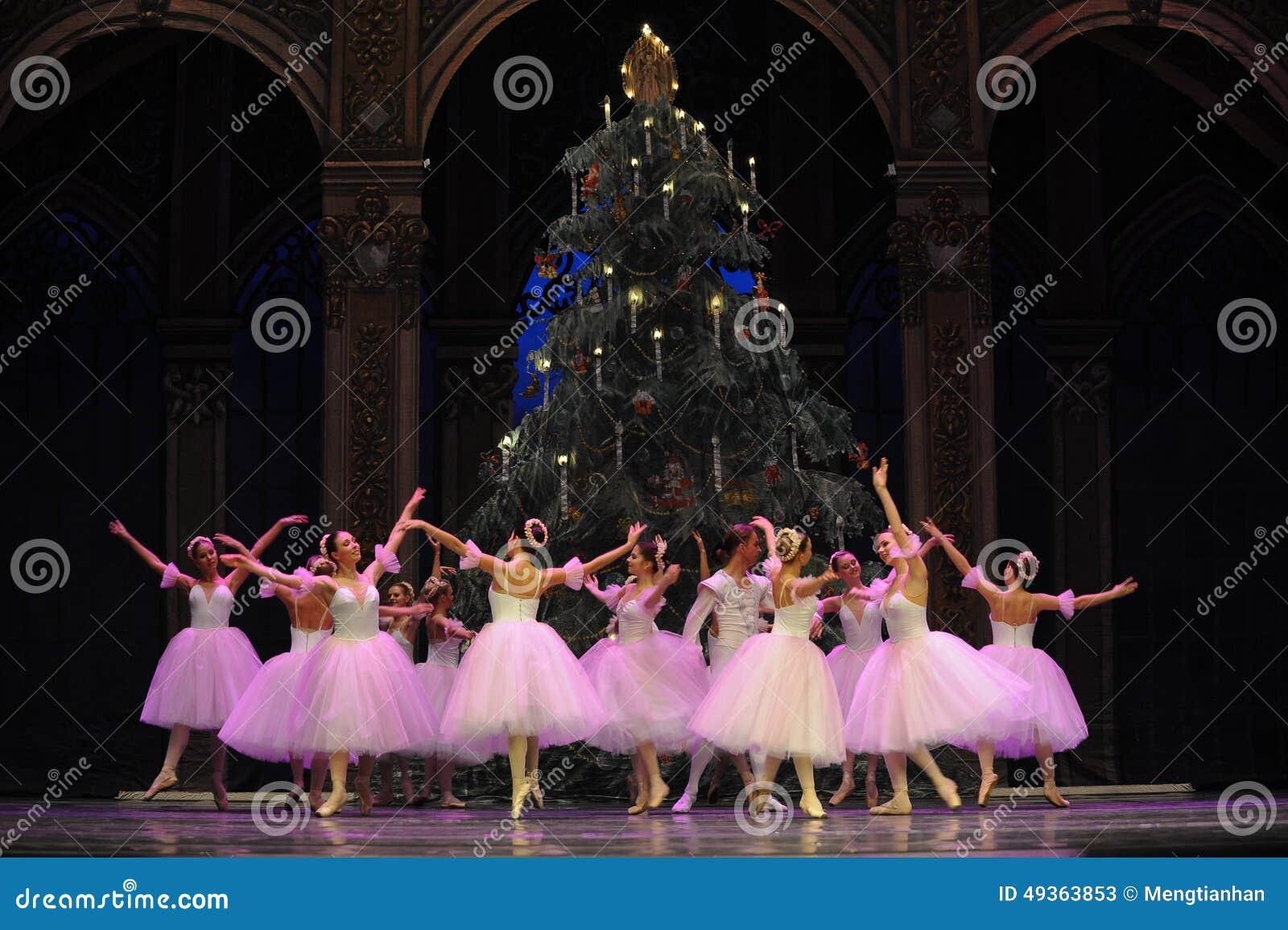 O fairy- do floco de neve o segundo do ato reino dos doces do campo em segundo - a quebra-nozes do bailado