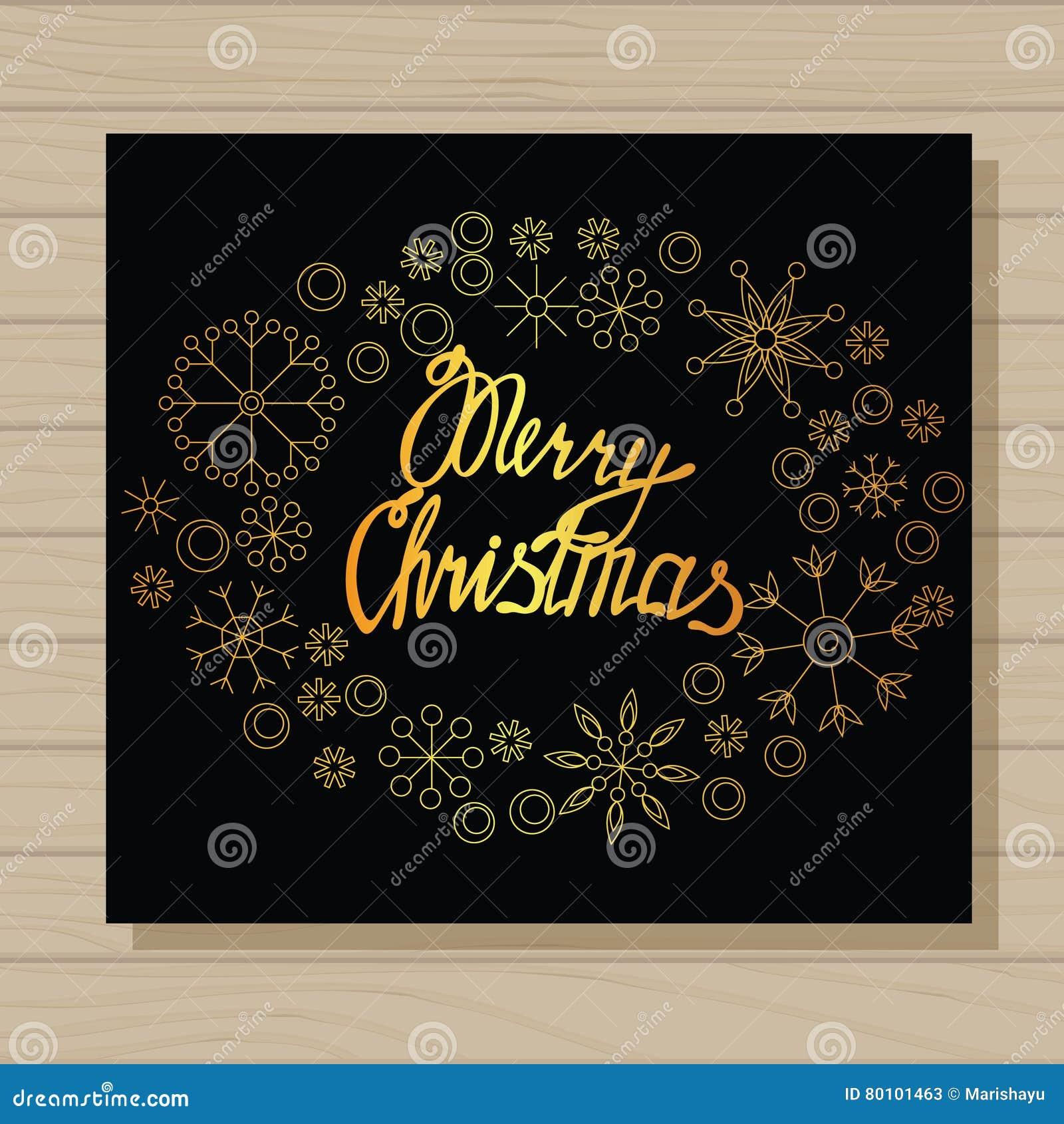 O Feliz Natal carda no fundo de madeira