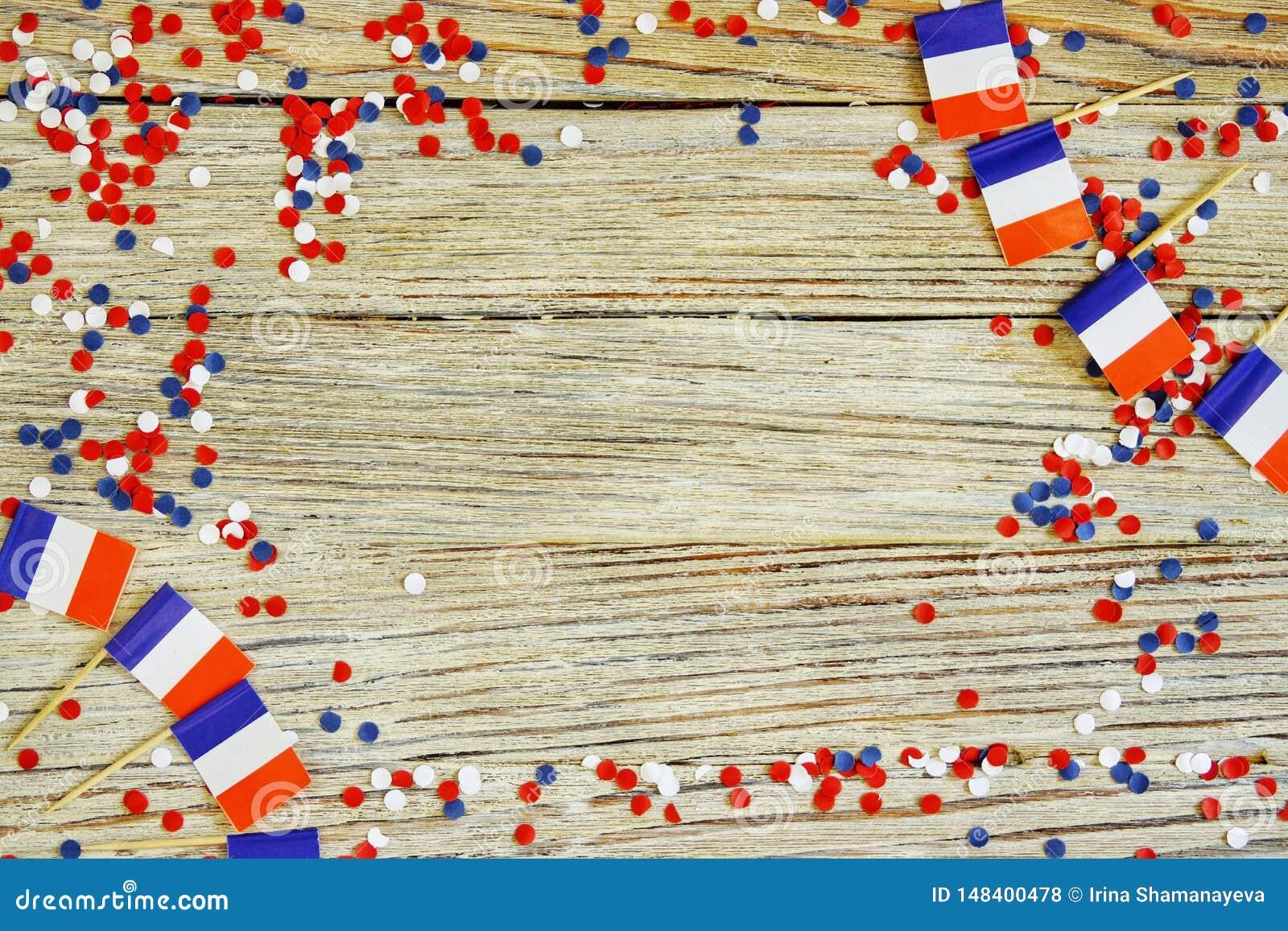 O feriado nacional do 14 de julho ? um Dia da Independ?ncia feliz de Fran?a, dia de Bastille, o conceito do patriotismo, mem?ria,