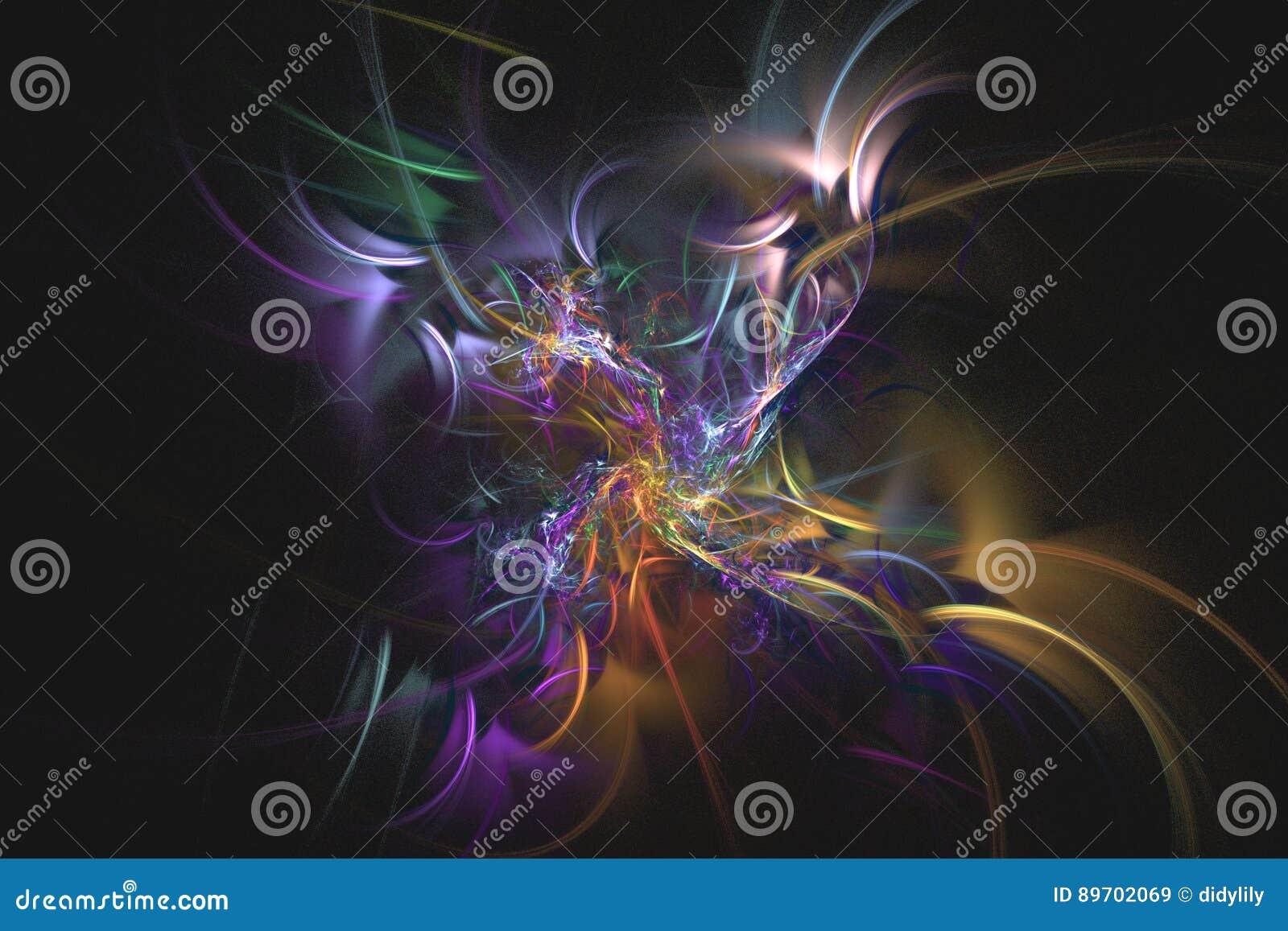O fractal abstrato ilustrou o papel de parede rendido fundo