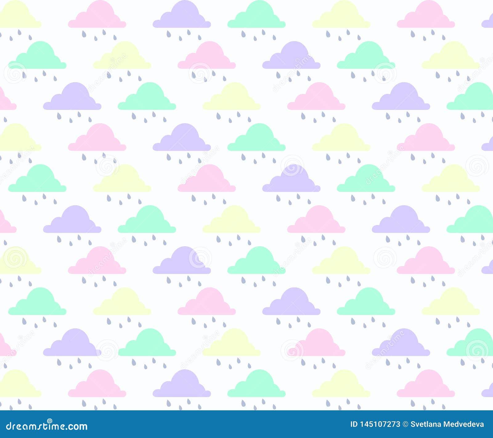 O fundo abstrato com nuvem, c?u e protagoniza na cor pastel