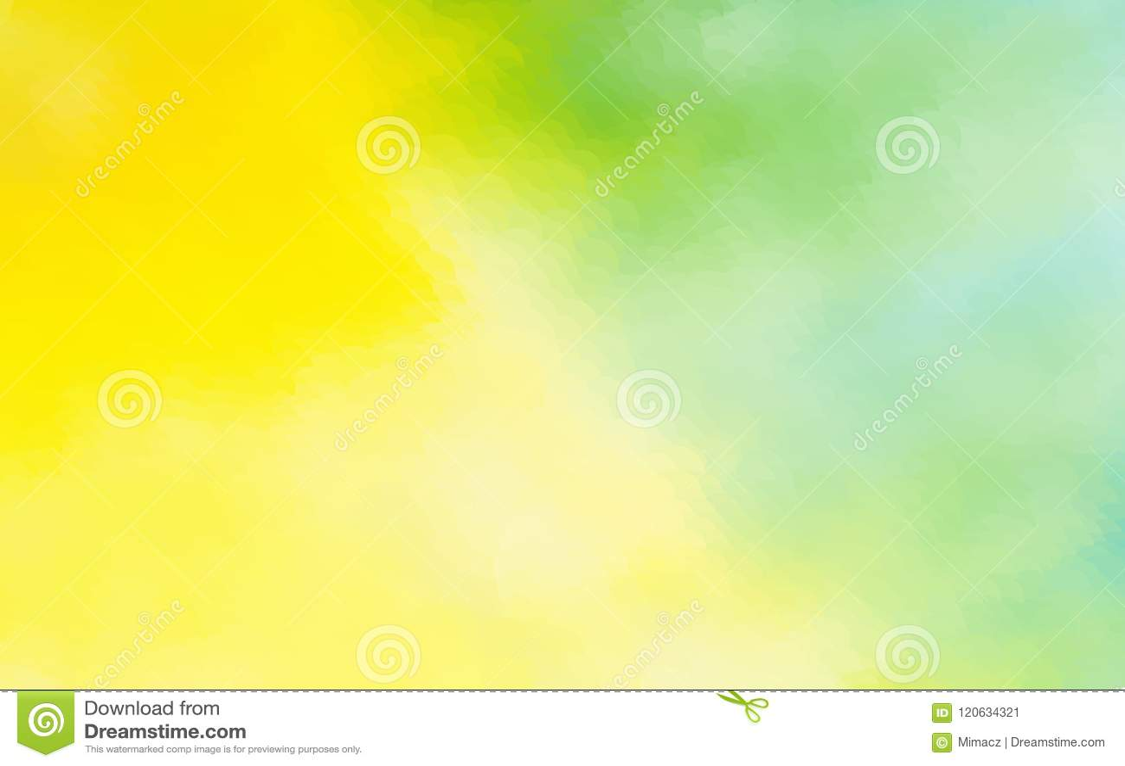 O fundo abstrato da aquarela do verde amarelo pontilhou o desig gráfico