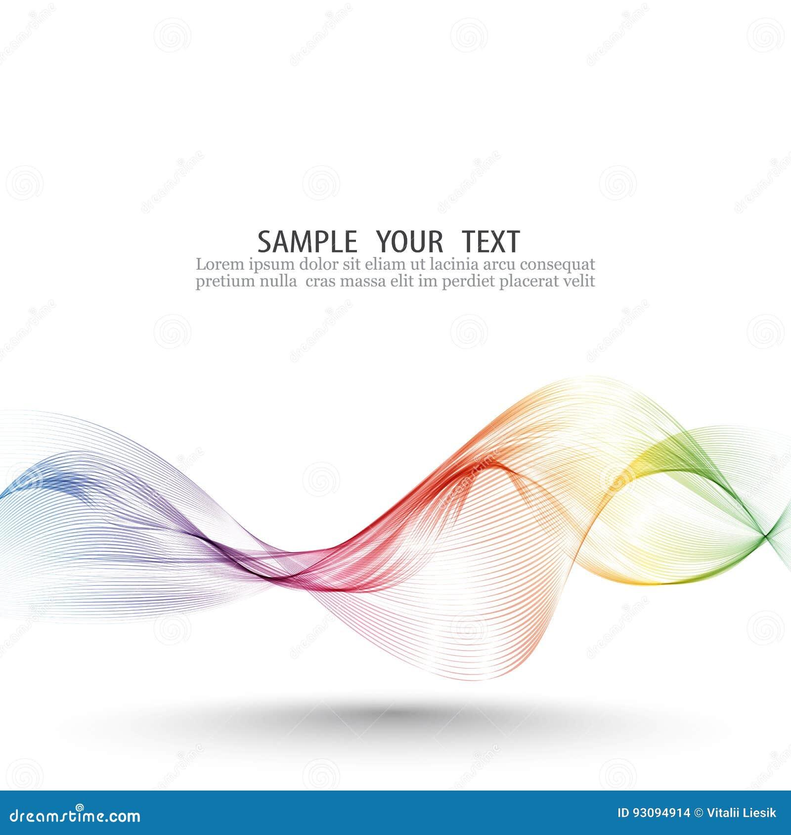 O fundo abstrato do vetor de onda, arco-íris acenou linhas para o folheto, Web site, projeto do inseto Cor da onda do espectro sm