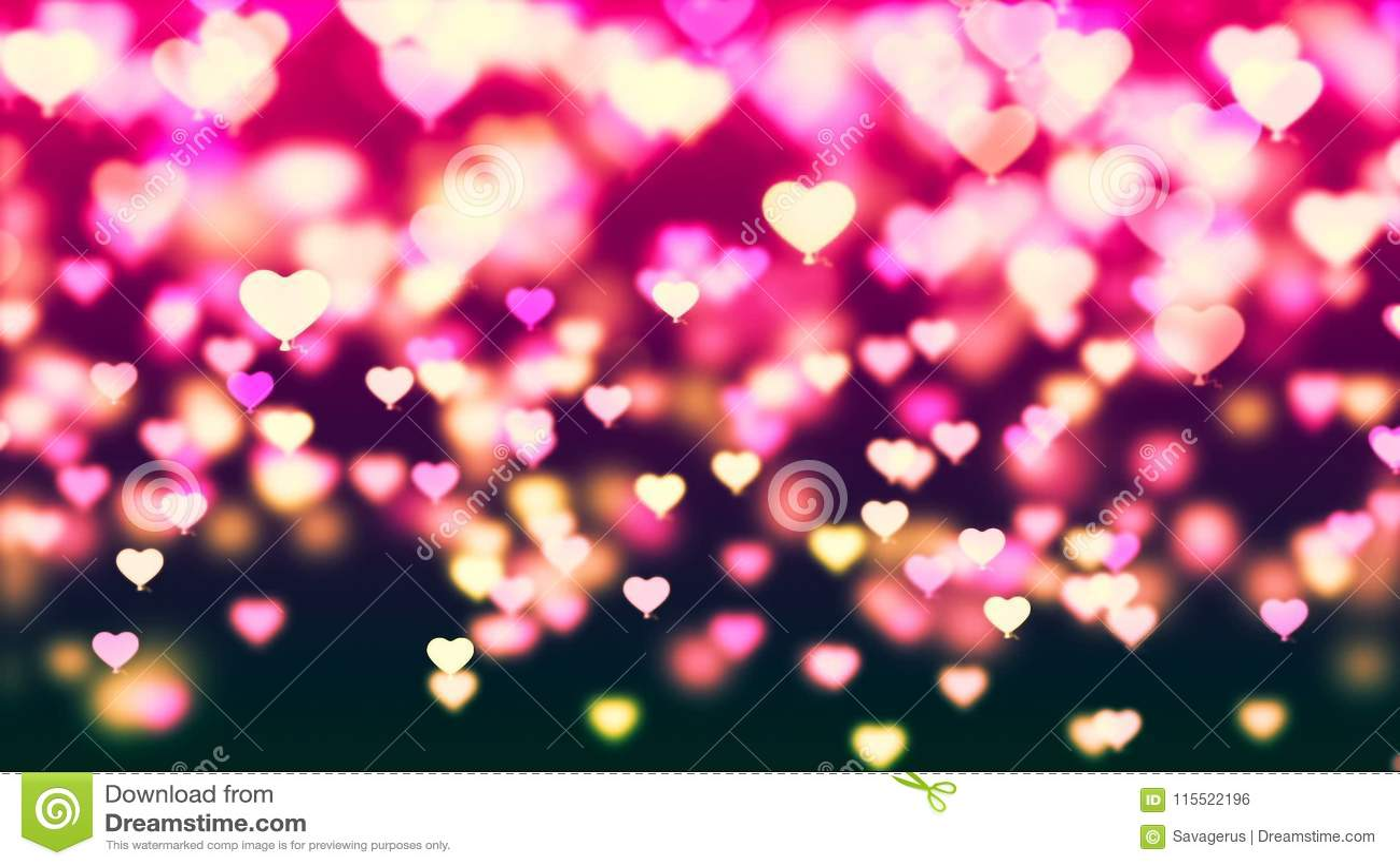 O fundo com voo colorido agradável balloons corações