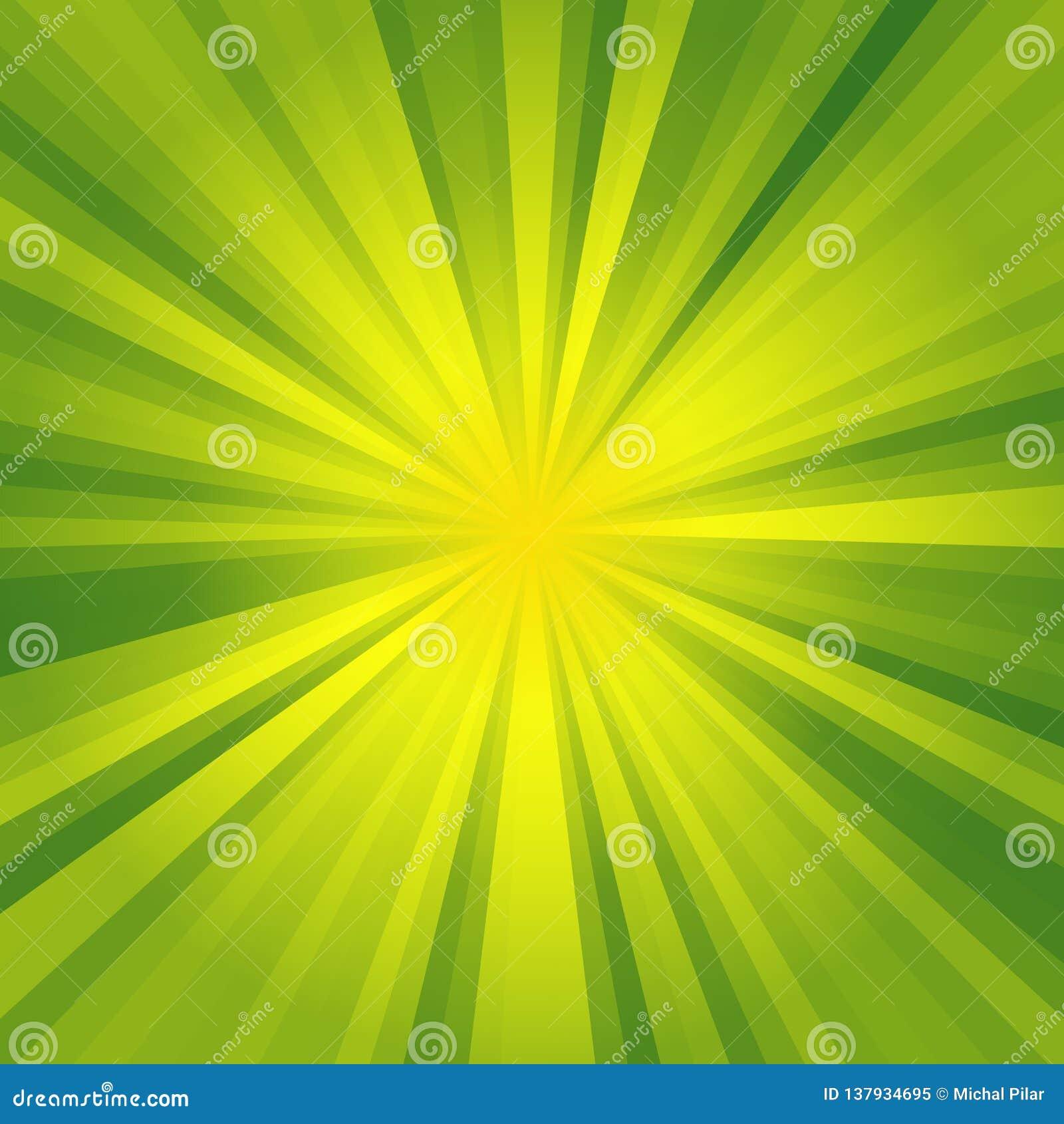 O fundo da iluminação verde e amarela com textura abstrata bonita, ilumina-se na rua