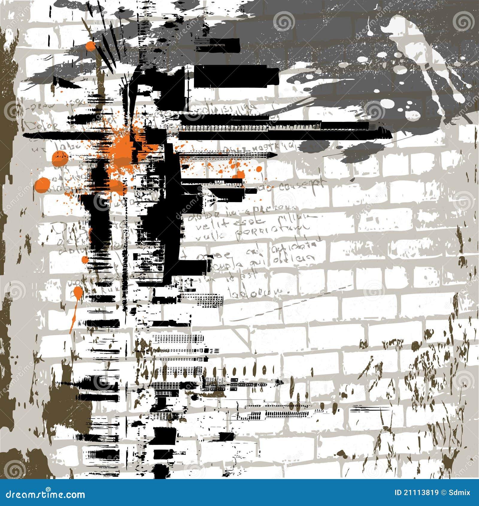 O fundo da parede do grunge do sumário do vetor