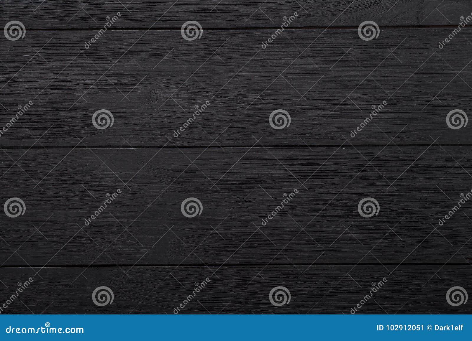 O fundo de madeira vazio vazio preto, superfície escura pintada da mesa da tabela, a textura de madeira embarca com espaço da cóp