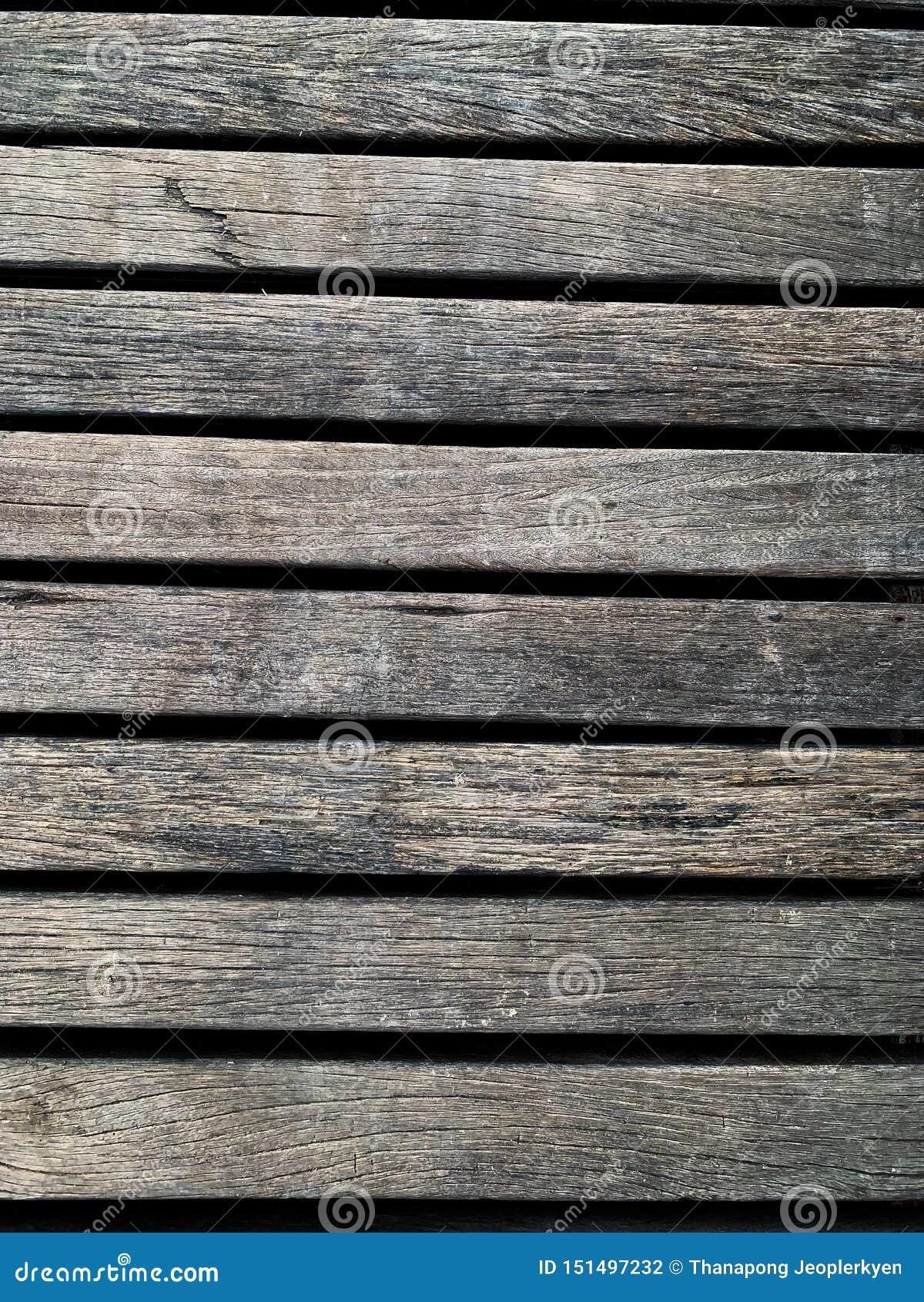 O fundo de madeira velho da parede