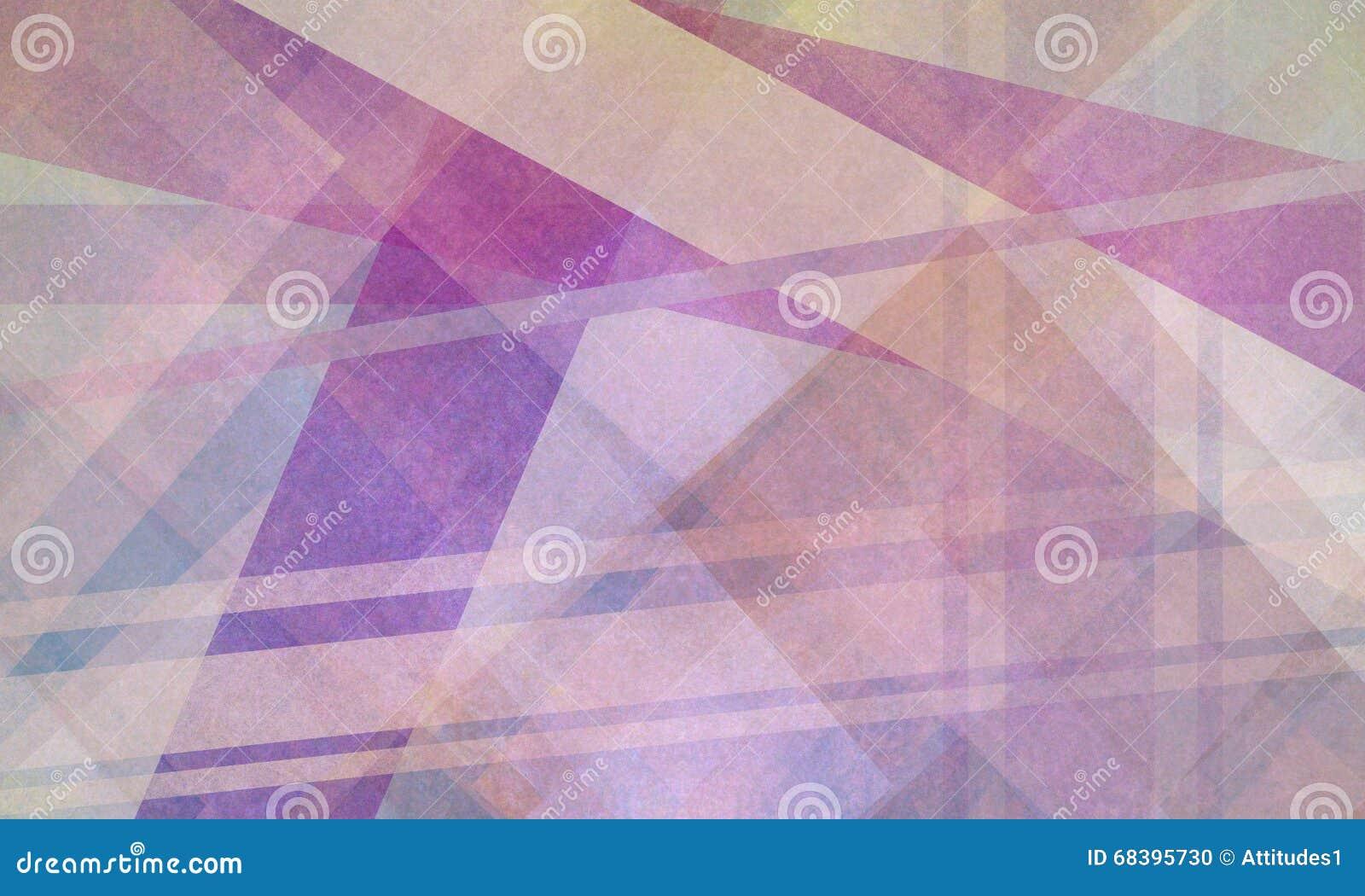 O fundo geométrico abstrato com as listras roxas e brancas dobra linhas e formas