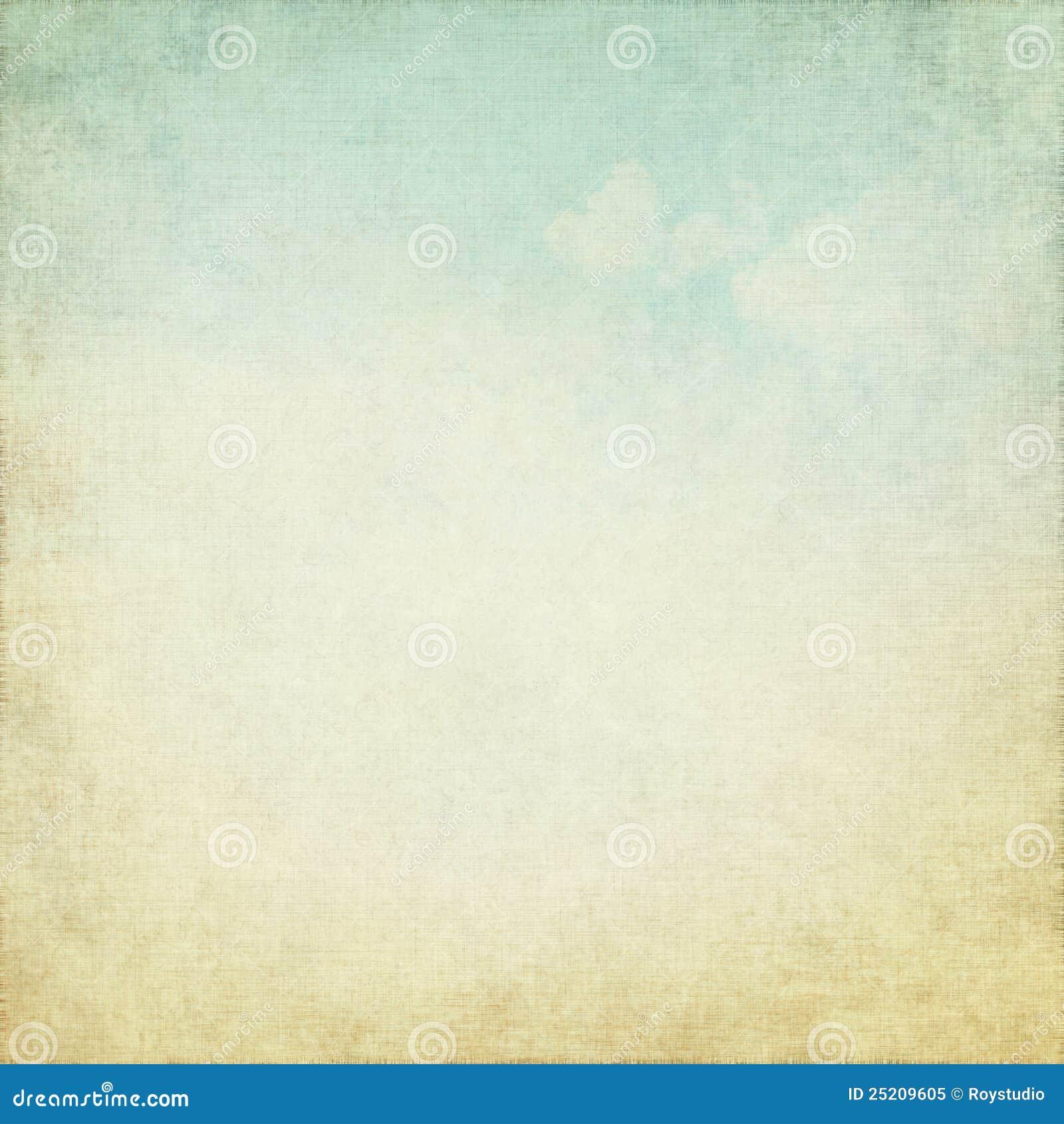 O fundo velho do grunge com branco do céu azul nubla-se