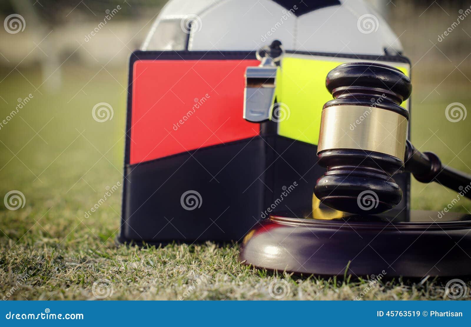 O futebol do futebol ordena a imagem do conceito dos regulamentos