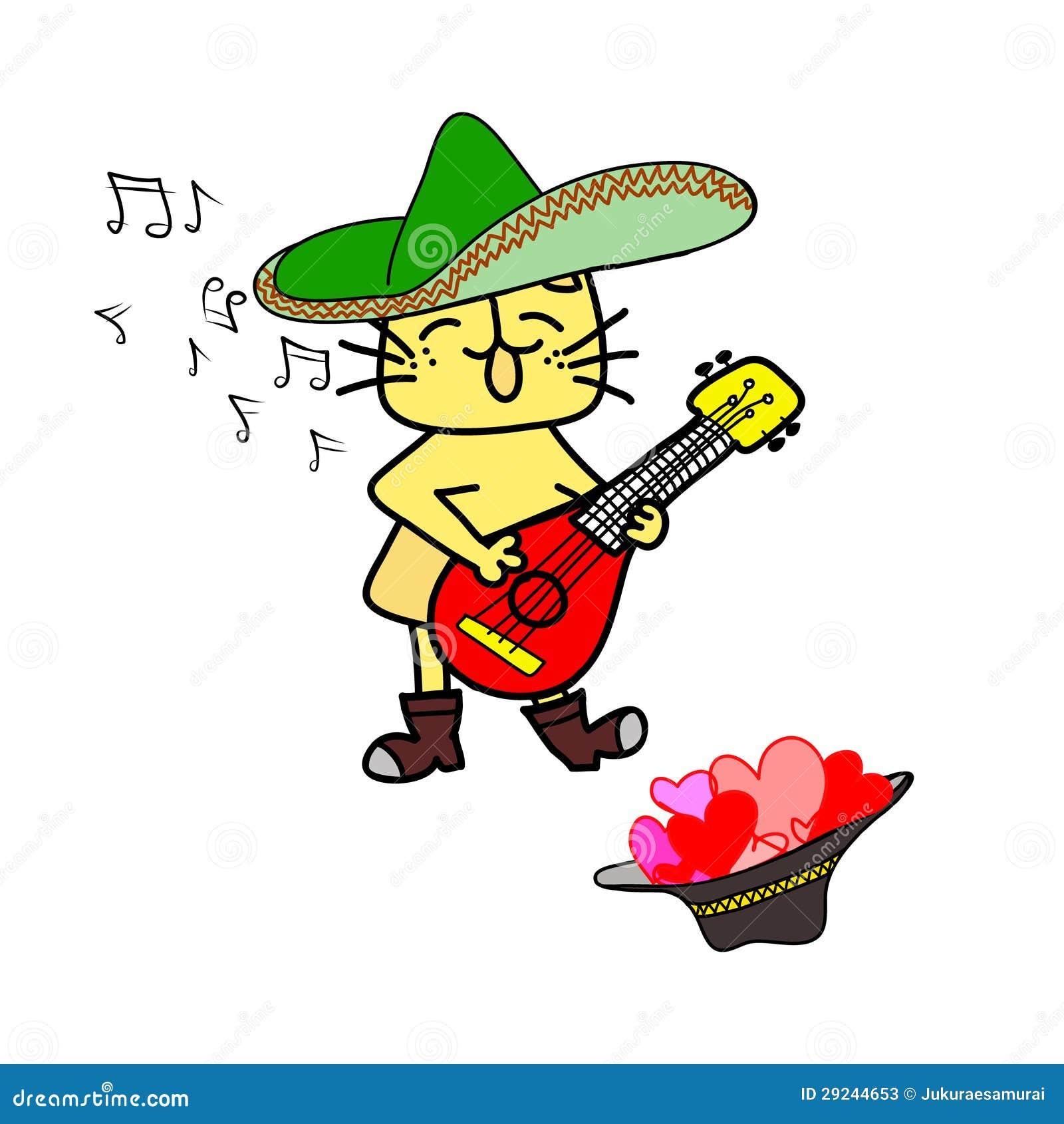 Download O Gato Amarelo Bonito Canta Ilustração do Vetor - Ilustração de tela, encantador: 29244653