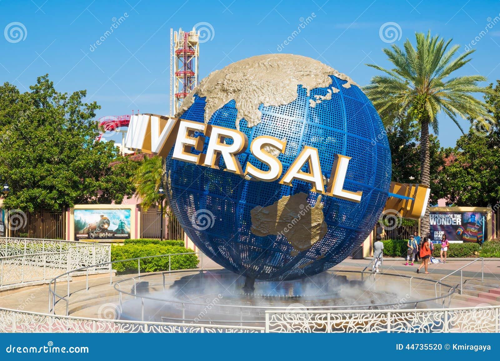 O globo famoso nos parques temáticos universais em Florida