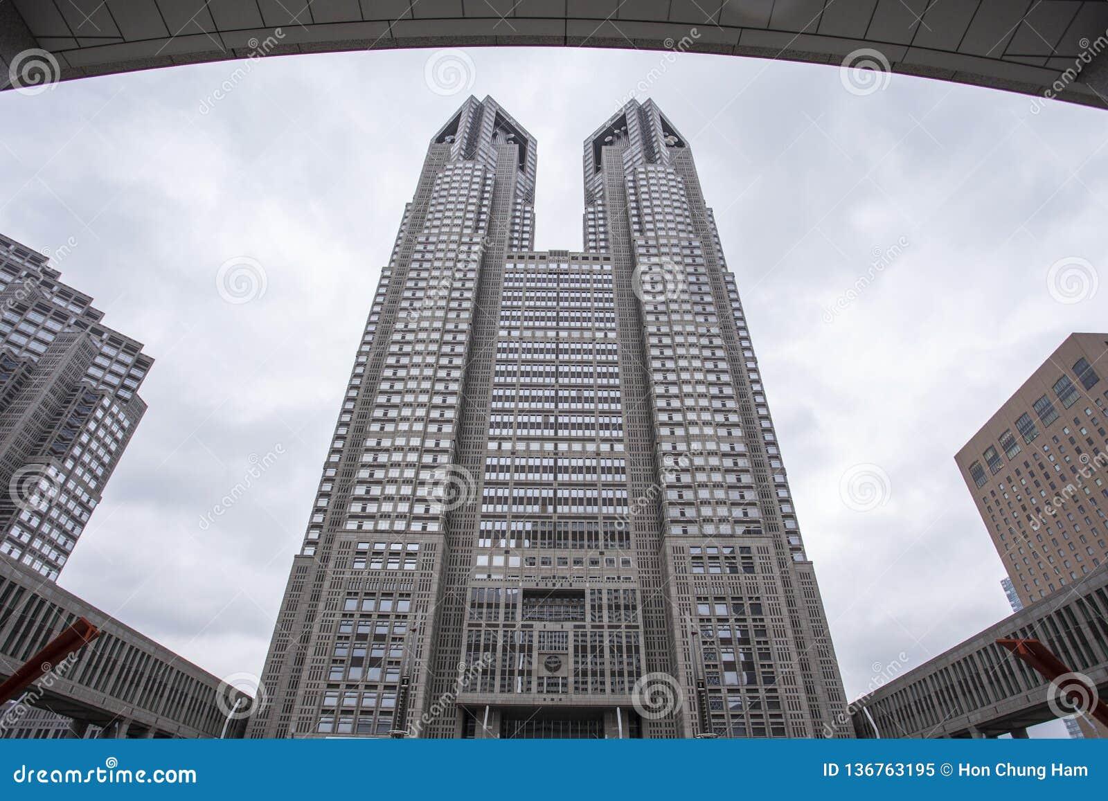 O governo metropolitano do Tóquio que constrói igualmente referiu como Tocho para breve no alvorecer