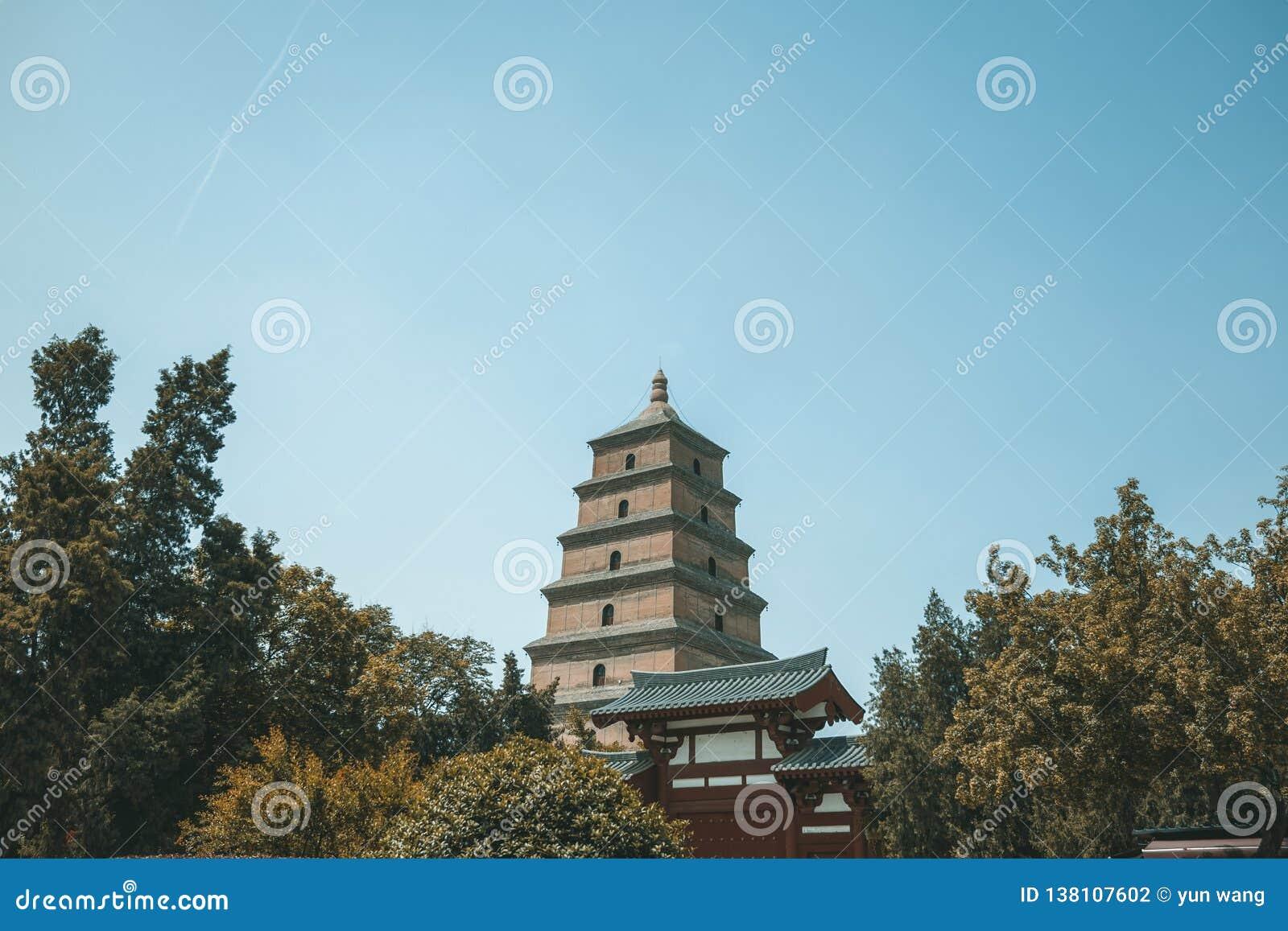 O grande pagode selvagem do ganso