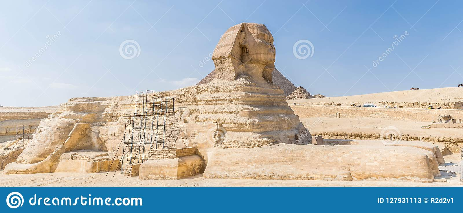 O grande Sphinx em Egipto