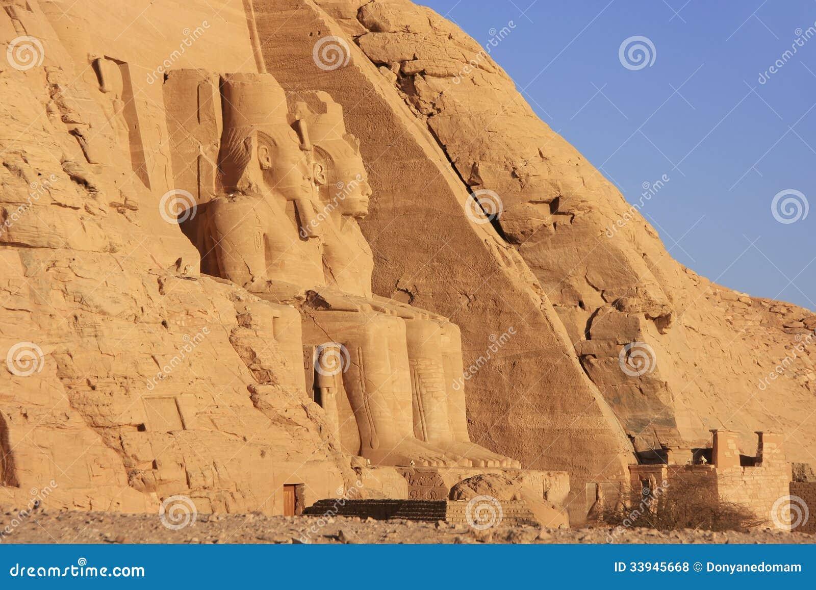 O grande templo de Abu Simbel, Nubia