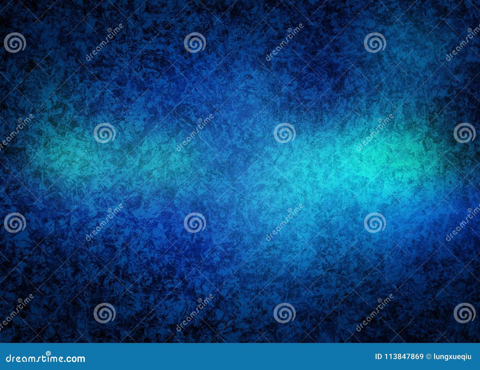 O Grunge azul frio e velho gelado distorce o papel de parede de Rusty Abstract Pattern Texture Background