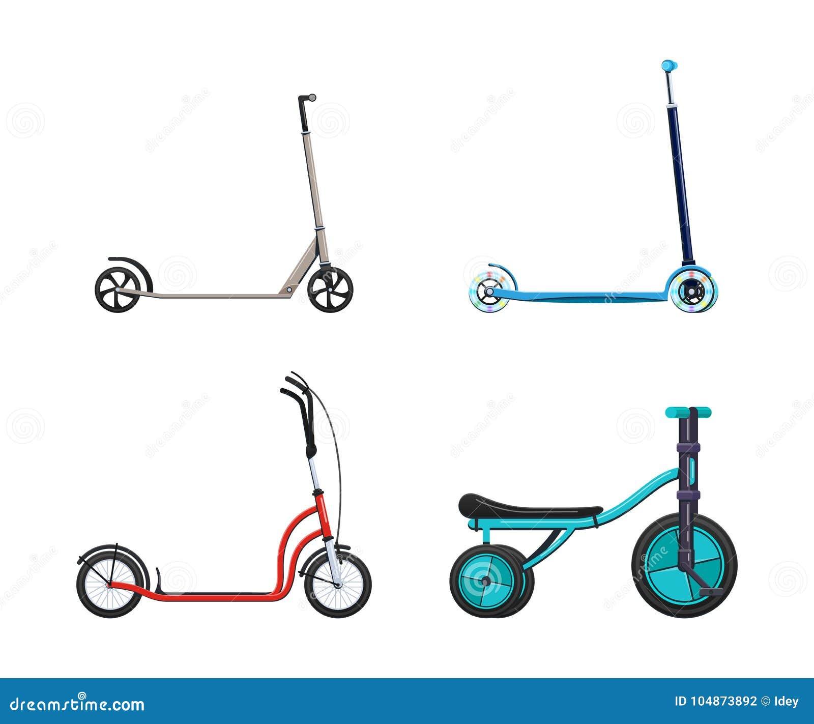 O grupo de veículos modernos para o transporte, cidade diferente bicycles