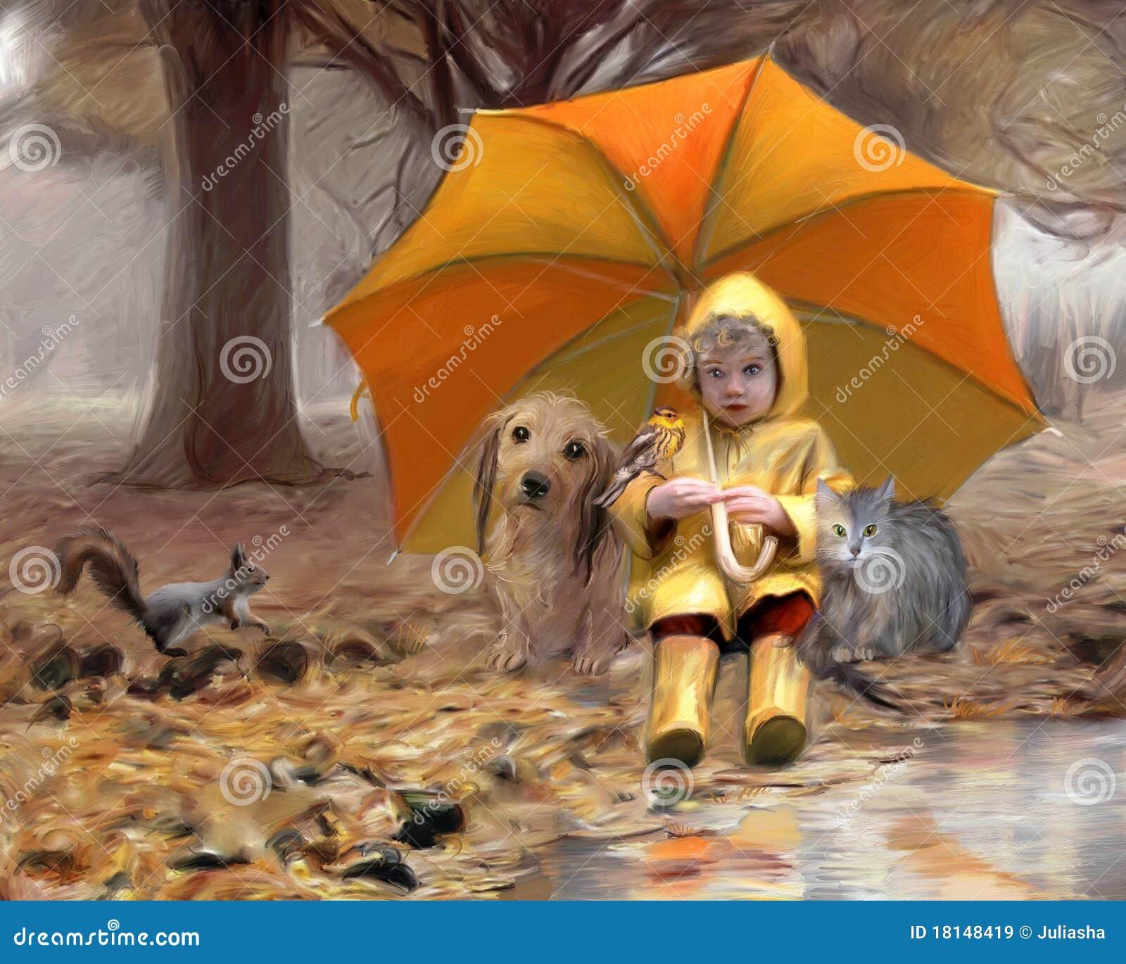 O guarda-chuva