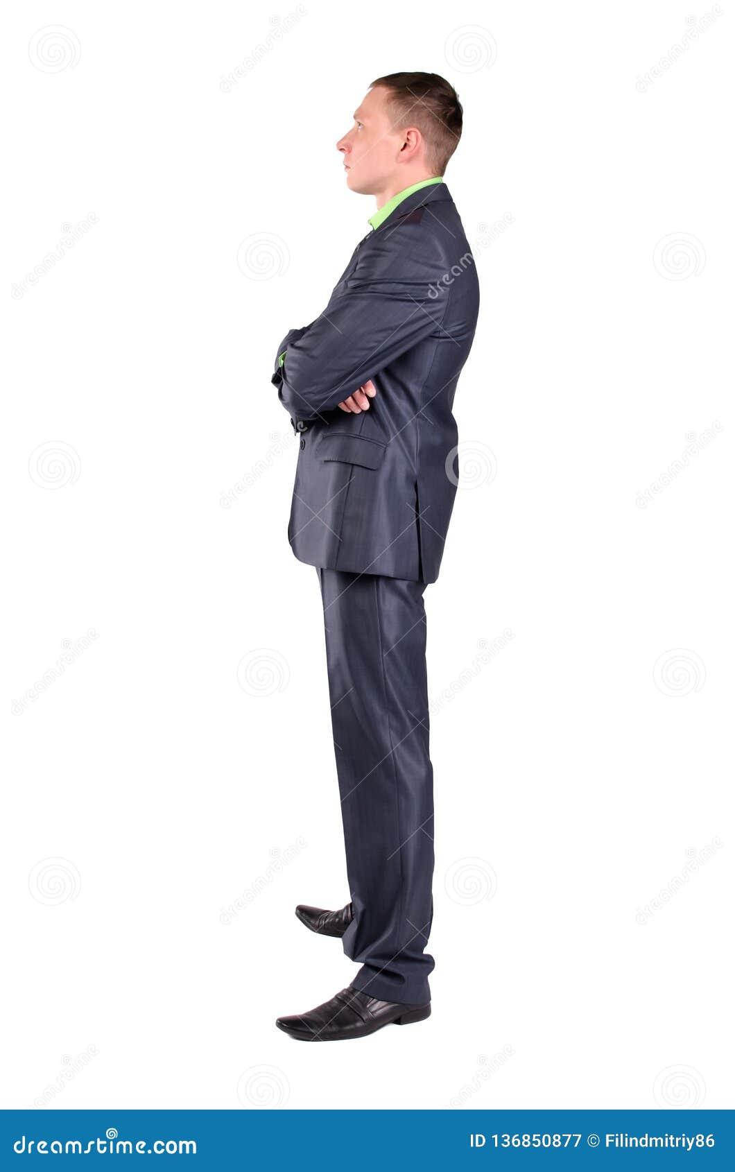 O homem de negócios pensativo é pensar isolado